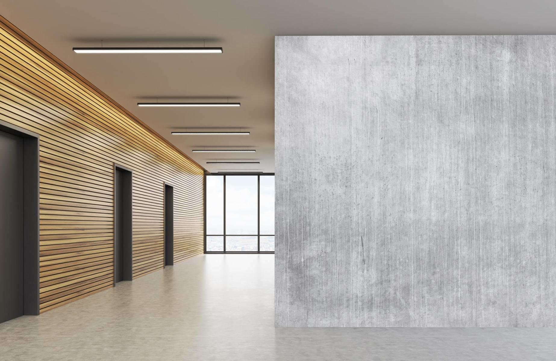 Betonlook behang - Beton met strepen - Wallexclusive - Slaapkamer 10