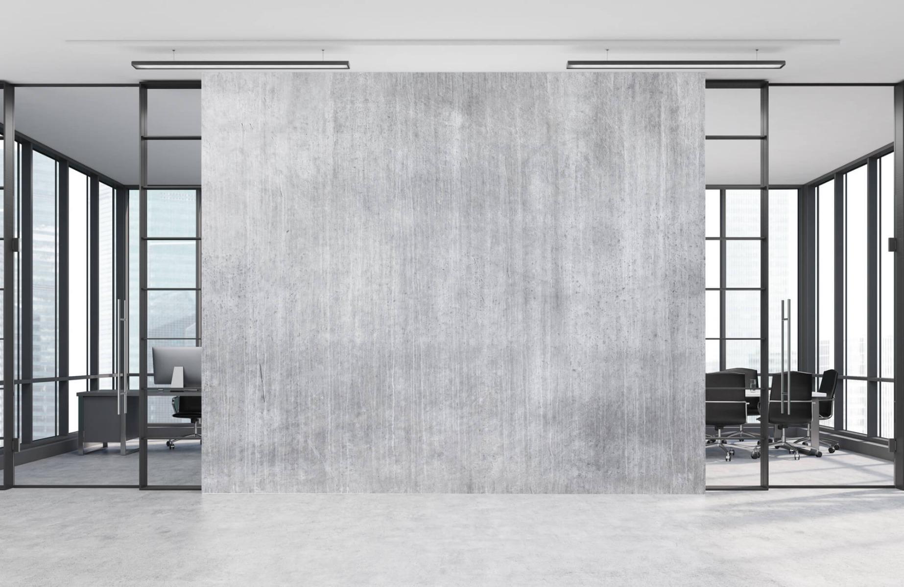 Betonlook behang - Beton met strepen - Wallexclusive - Slaapkamer 12