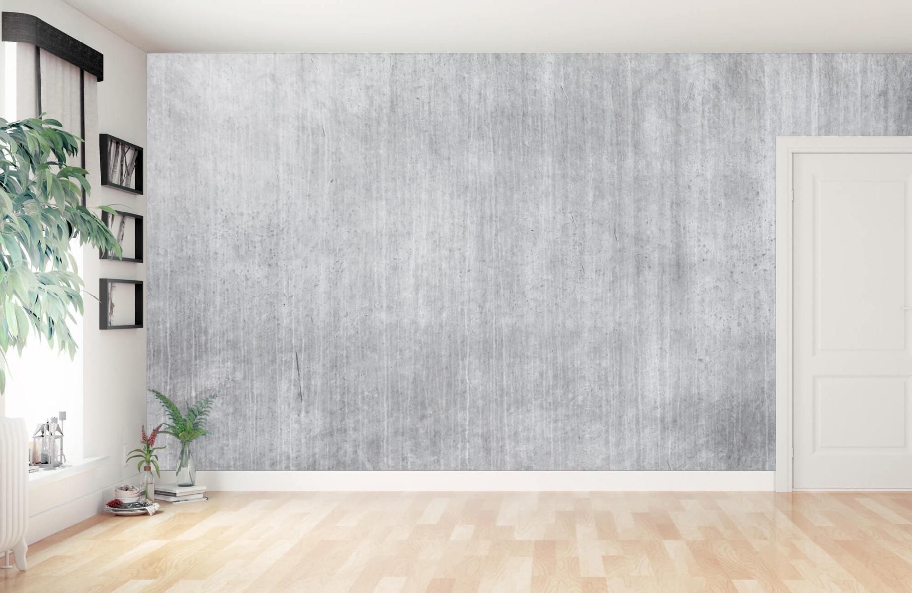 Betonlook behang - Beton met strepen - Wallexclusive - Slaapkamer 2