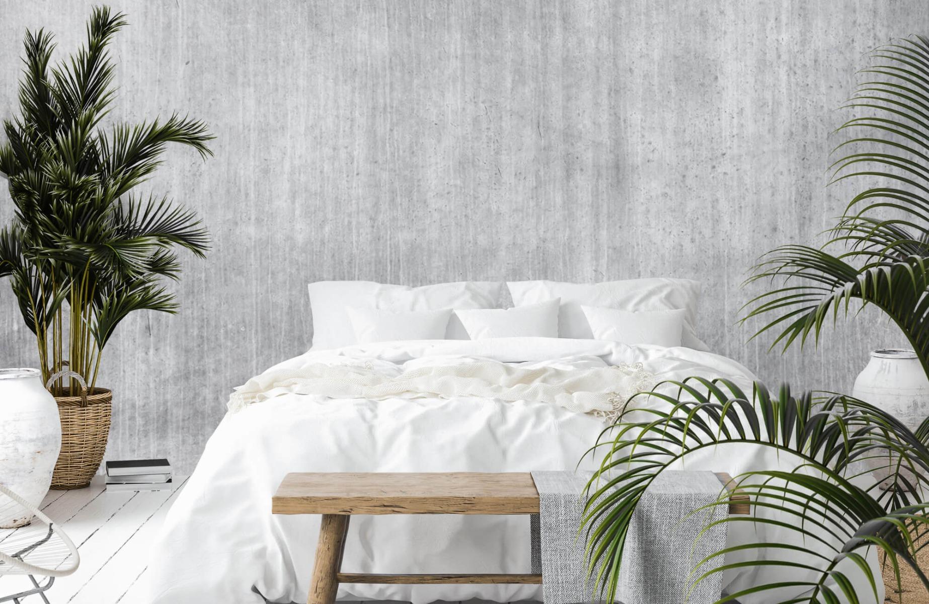 Betonlook behang - Beton met strepen - Wallexclusive - Slaapkamer 15