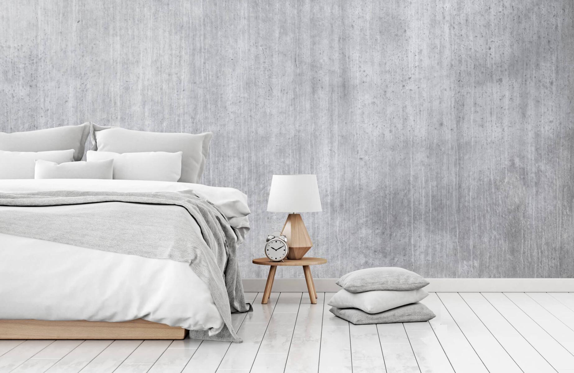 Betonlook behang - Beton met strepen - Wallexclusive - Slaapkamer 16