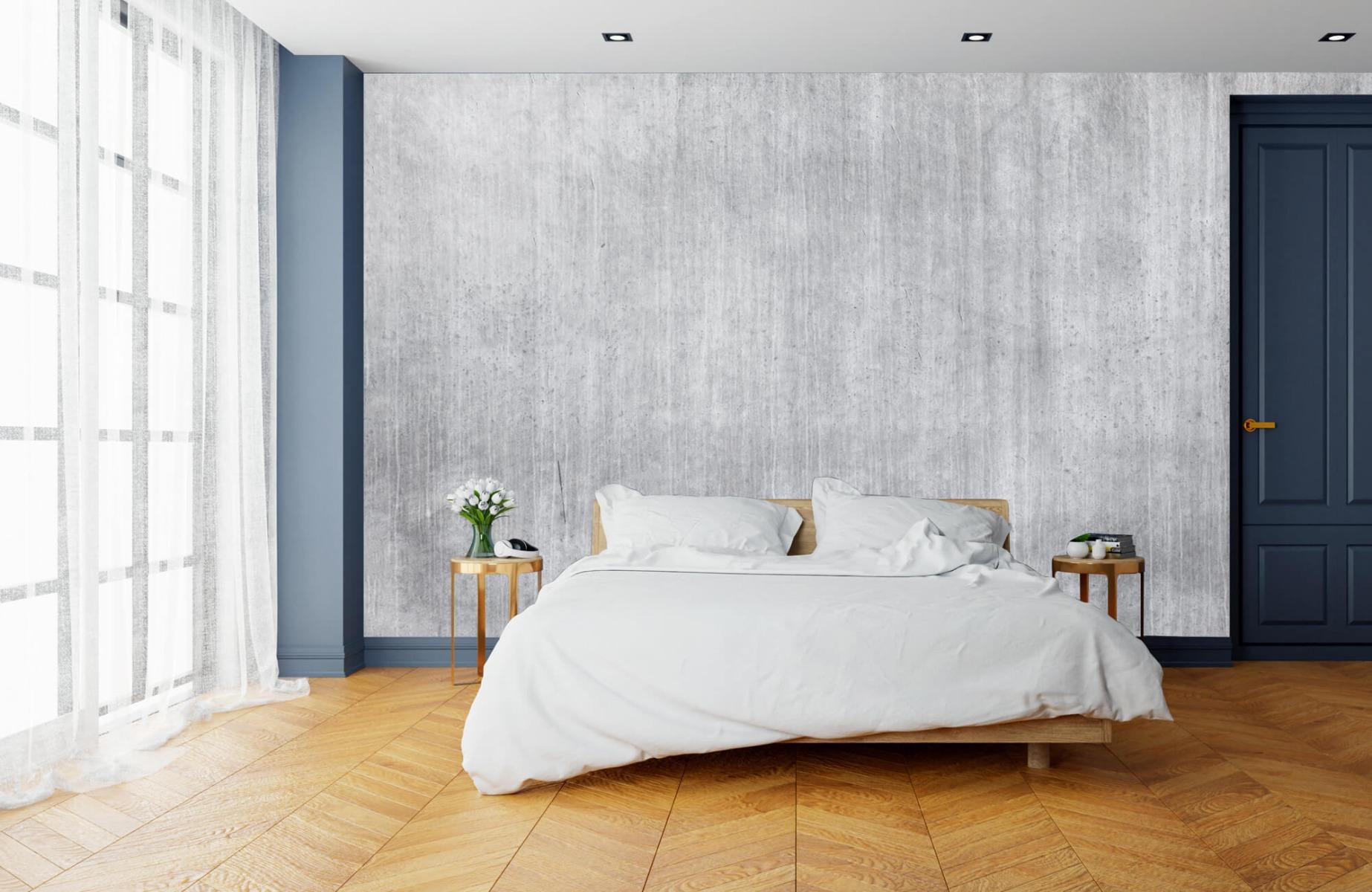 Betonlook behang - Beton met strepen - Wallexclusive - Slaapkamer 3
