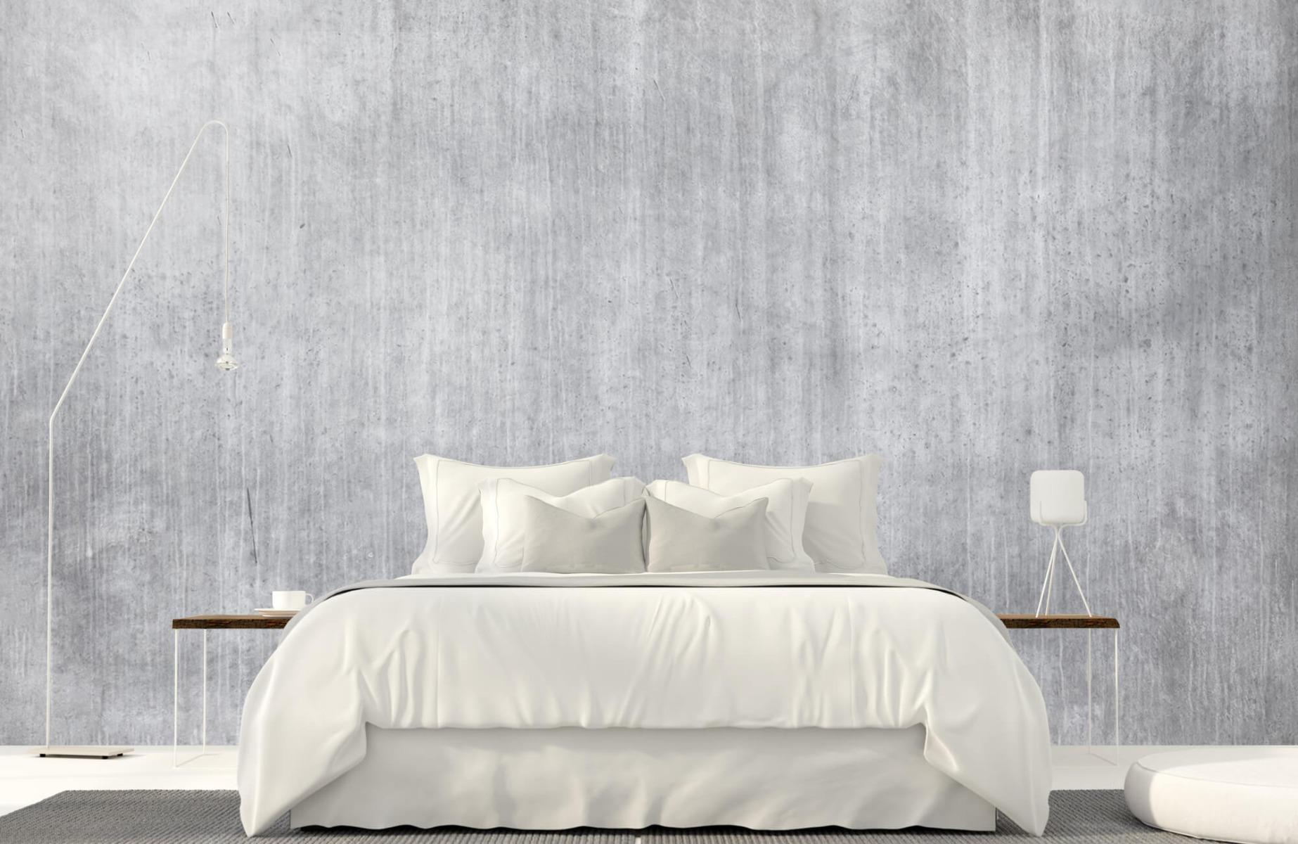 Betonlook behang - Beton met strepen - Wallexclusive - Slaapkamer 17