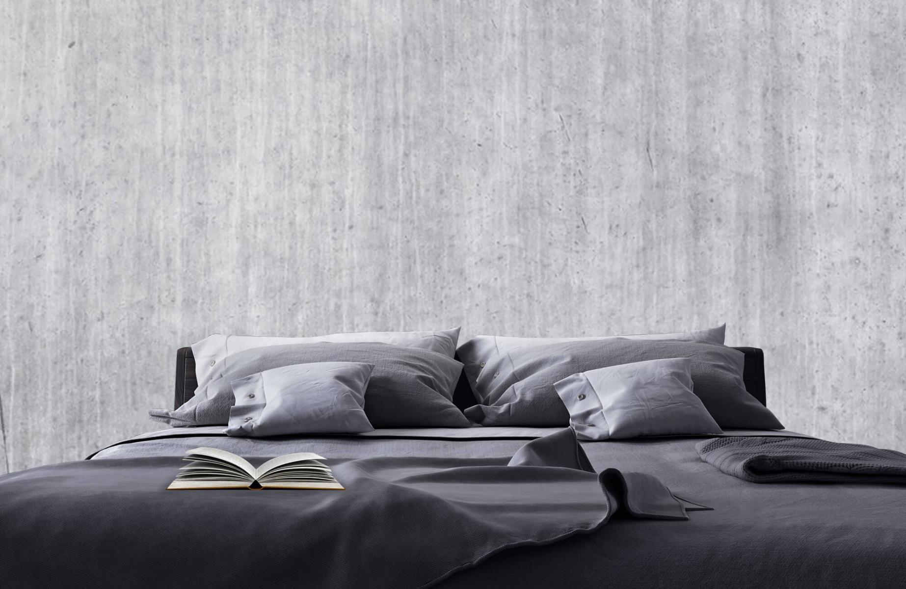 Betonlook behang - Beton met strepen - Wallexclusive - Slaapkamer 18