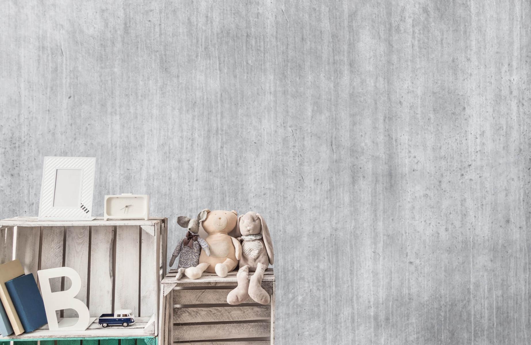 Betonlook behang - Beton met strepen - Wallexclusive - Slaapkamer 19