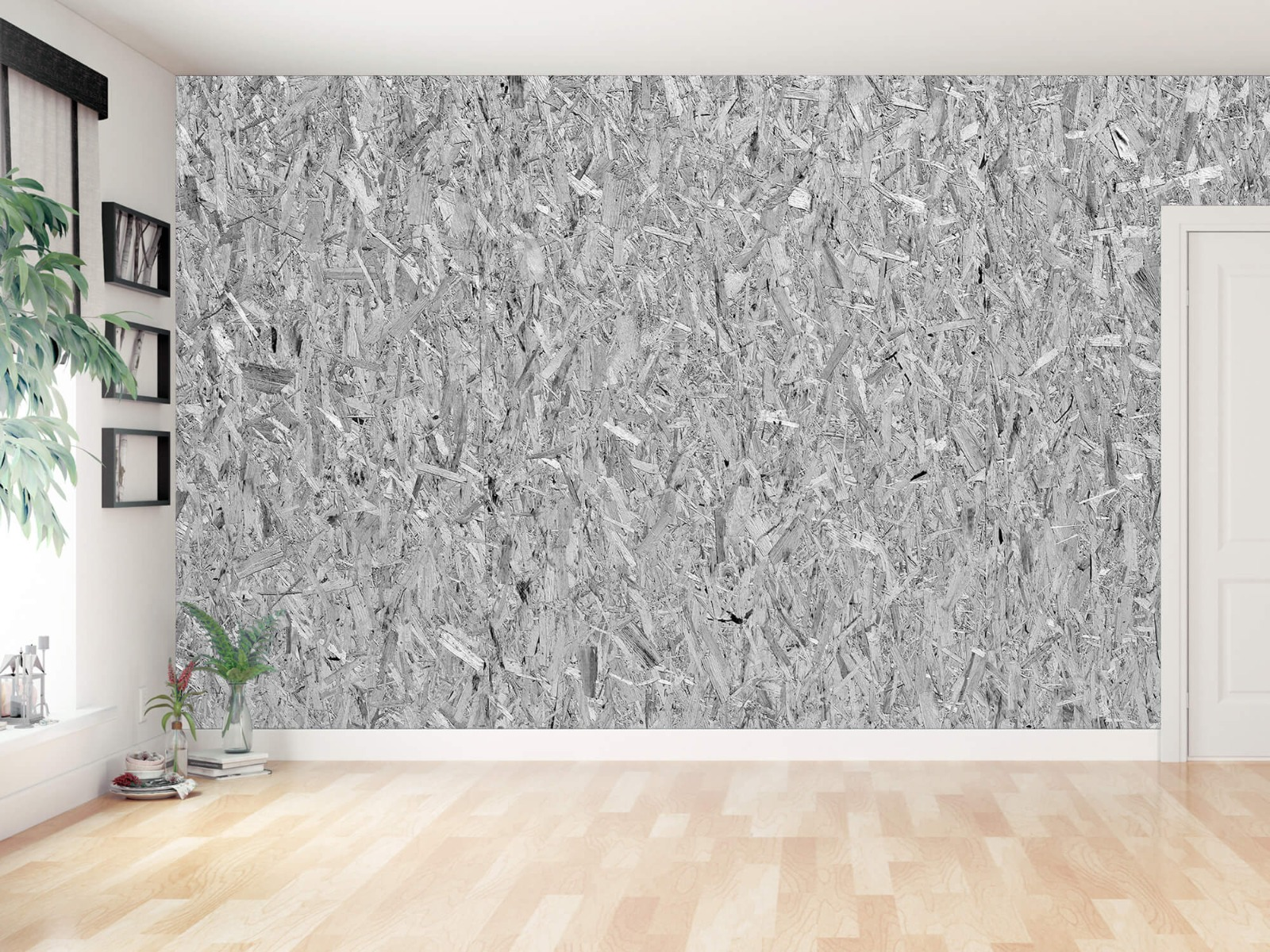 Hout behang - Spaanplaat - Wallexclusive - Woonkamer 12