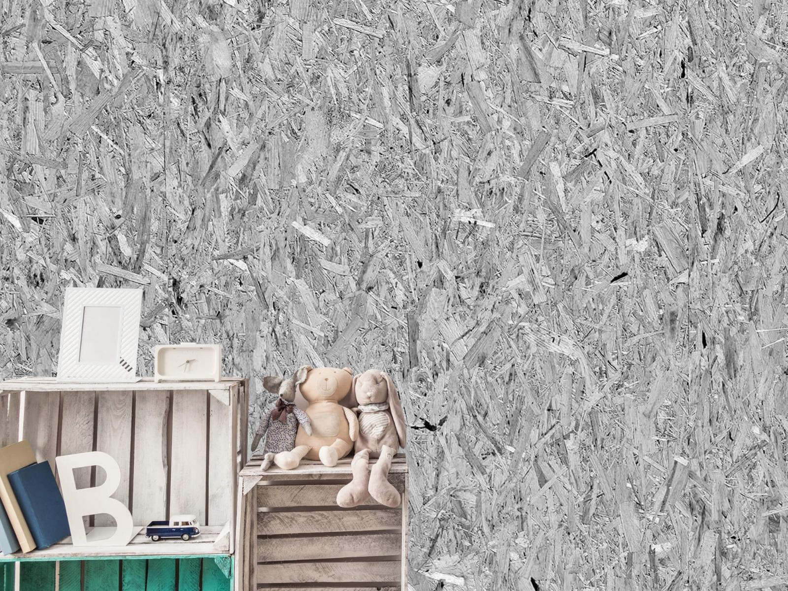 Hout behang - Spaanplaat - Wallexclusive - Woonkamer 19