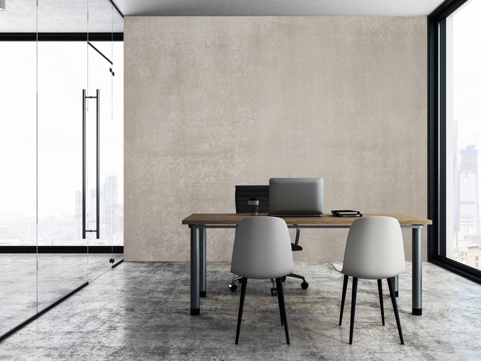 Betonlook behang - Taupe beton - Wallexclusive - Woonkamer 6