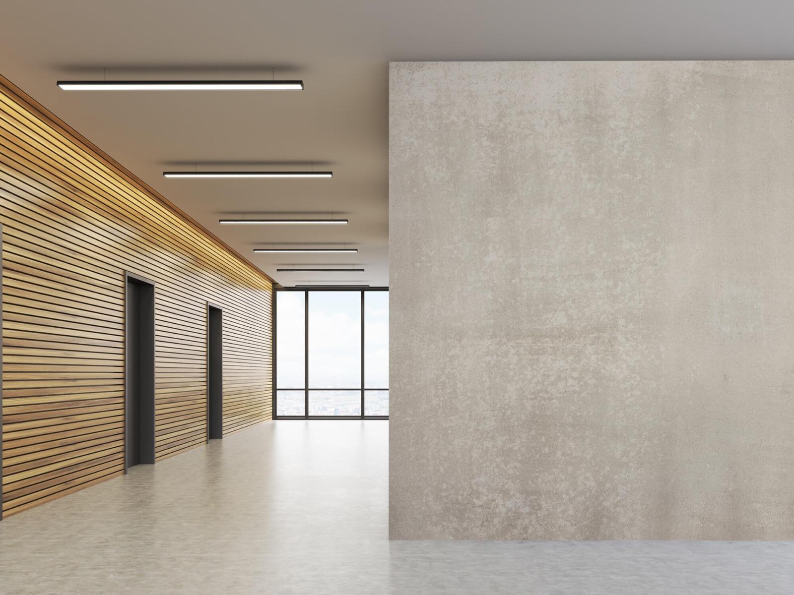 Betonlook behang - Taupe beton - Wallexclusive - Woonkamer 8
