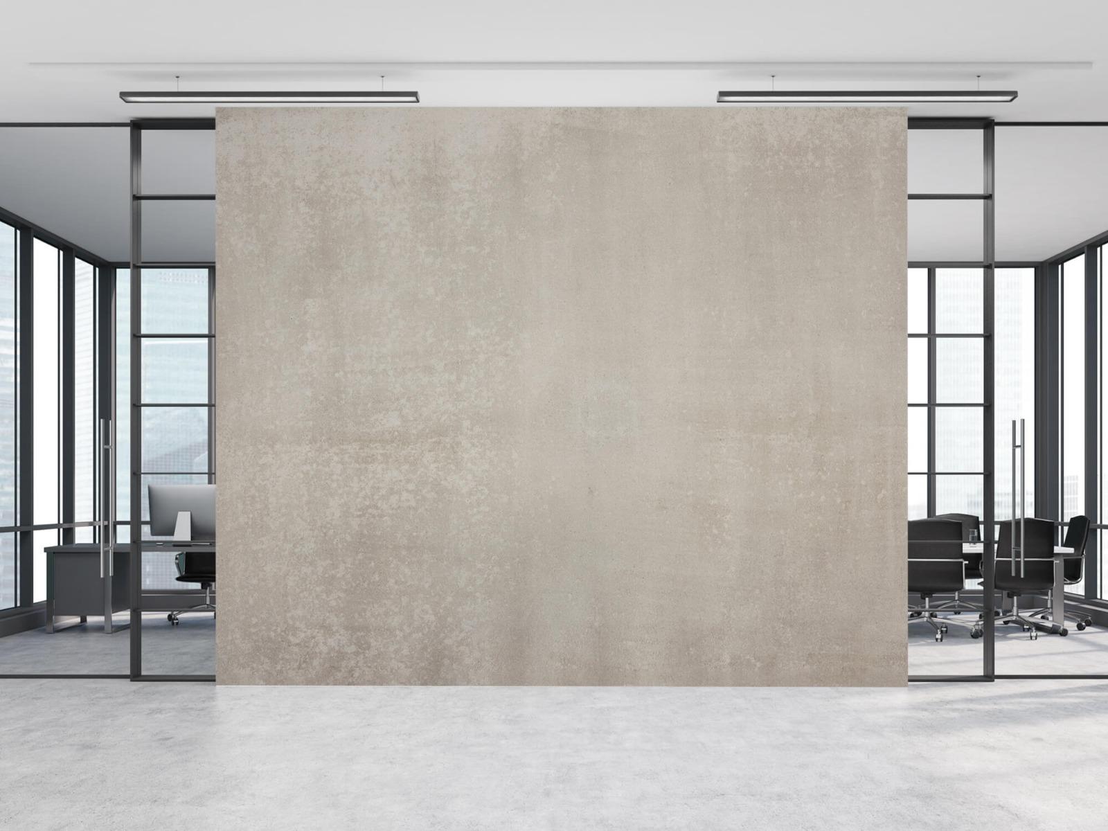 Betonlook behang - Taupe beton - Wallexclusive - Woonkamer 10
