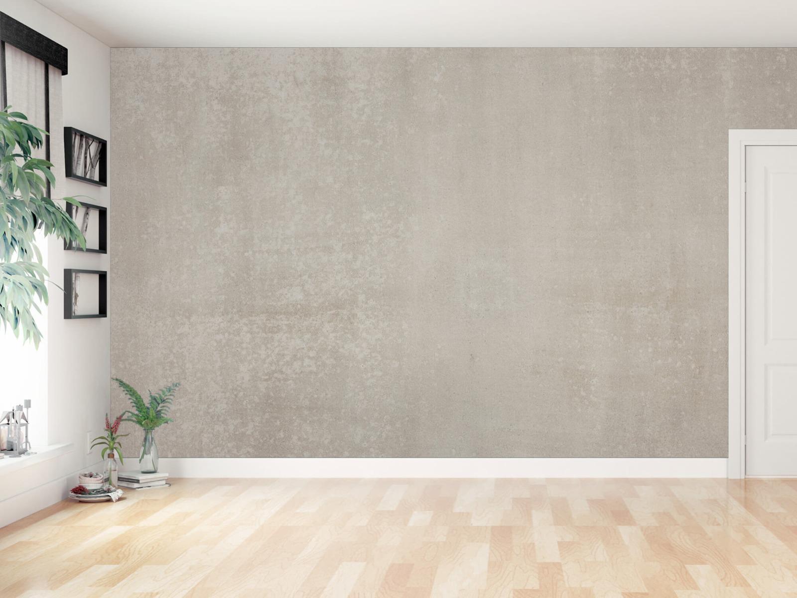 Betonlook behang - Taupe beton - Wallexclusive - Woonkamer 12