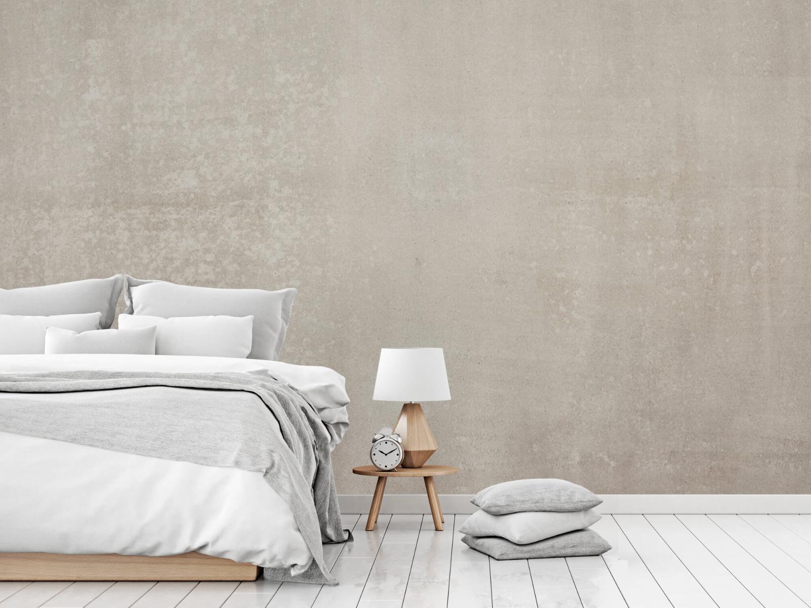 Betonlook behang - Taupe beton - Wallexclusive - Woonkamer 15