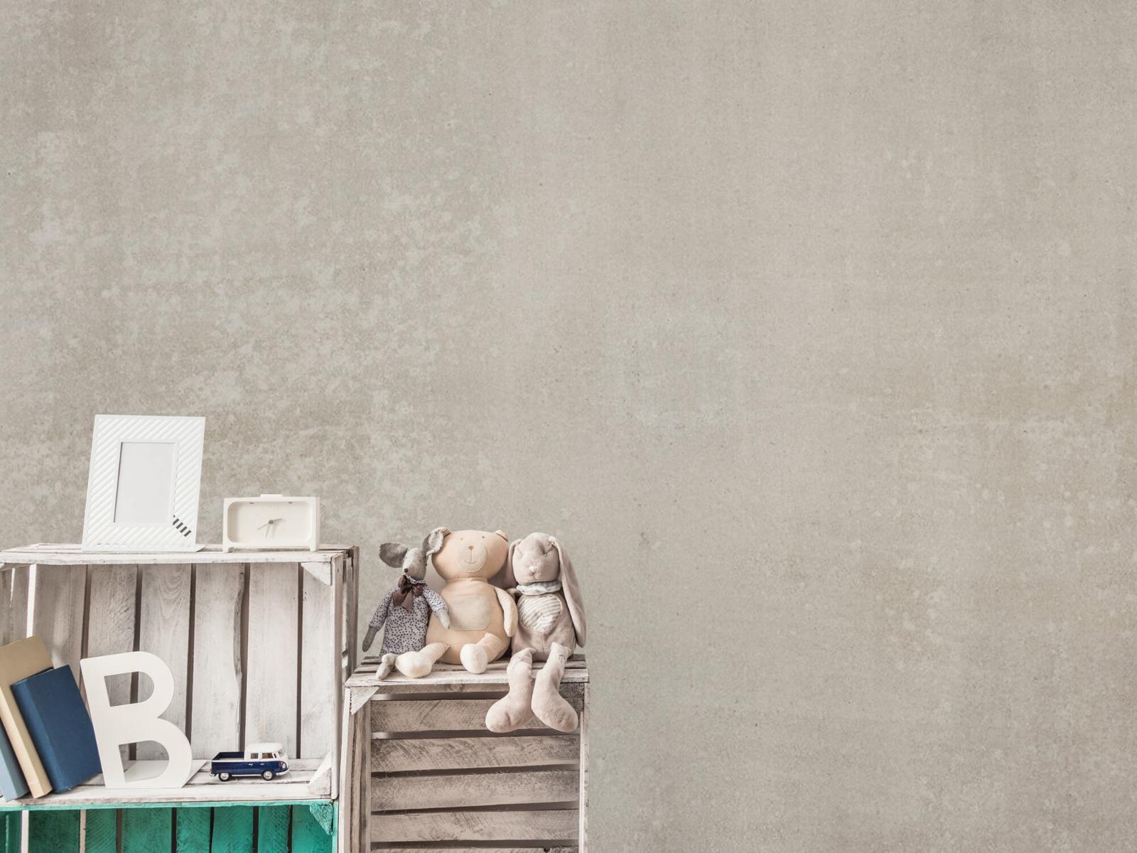 Betonlook behang - Taupe beton - Wallexclusive - Woonkamer 19