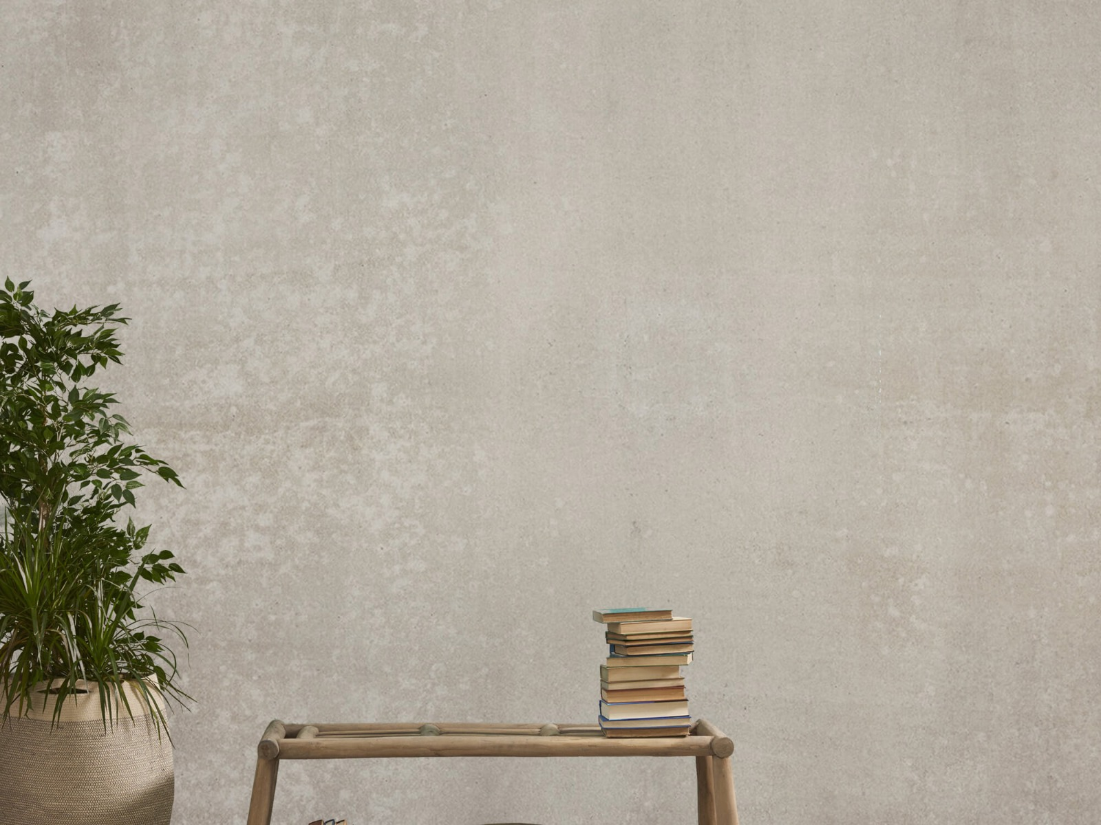 Betonlook behang - Taupe beton - Wallexclusive - Woonkamer 20