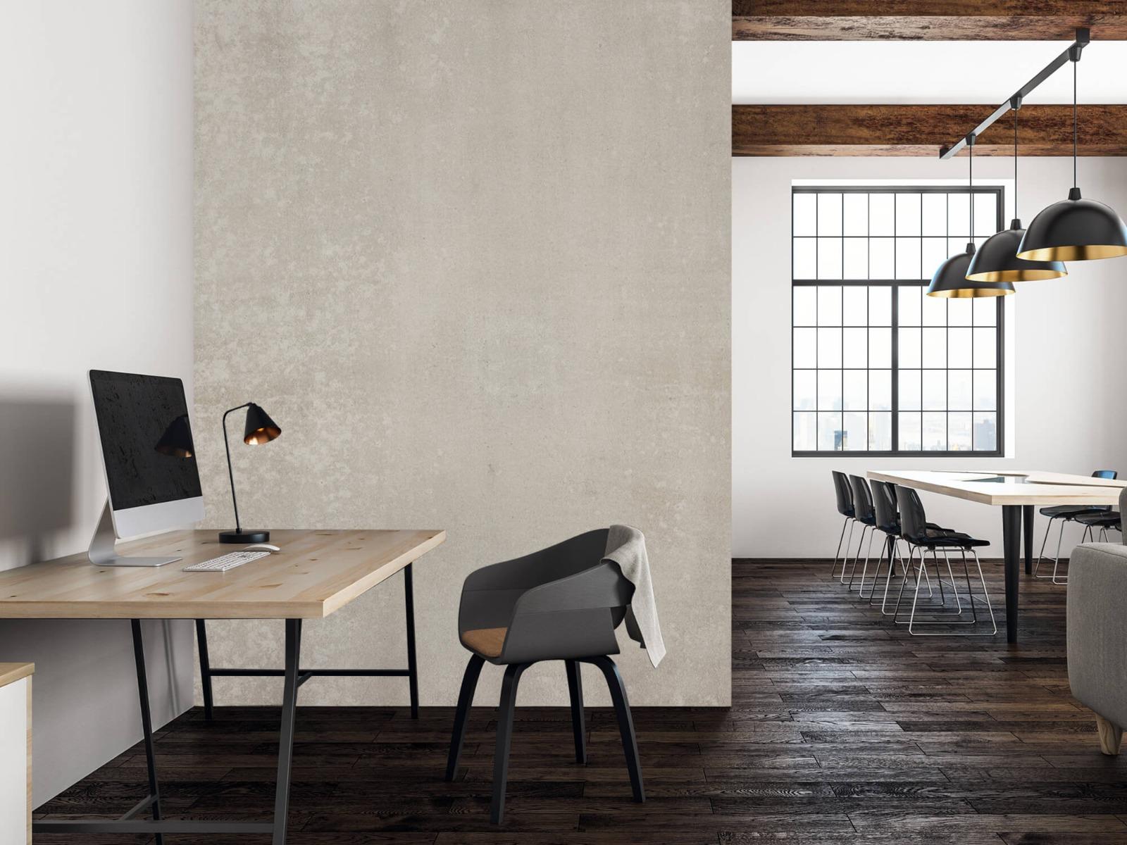Betonlook behang - Taupe beton - Wallexclusive - Woonkamer 22