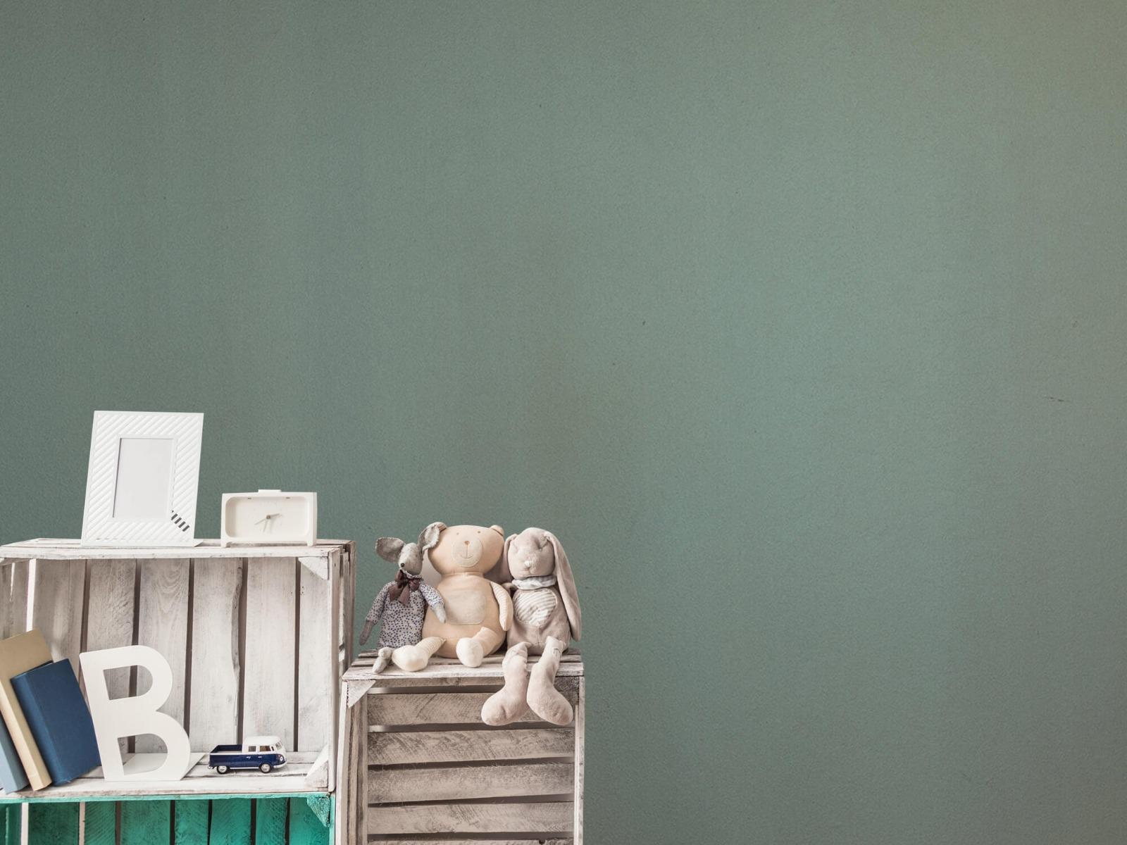 Betonlook behang - Geschilderd beton - Wallexclusive - Woonkamer 3