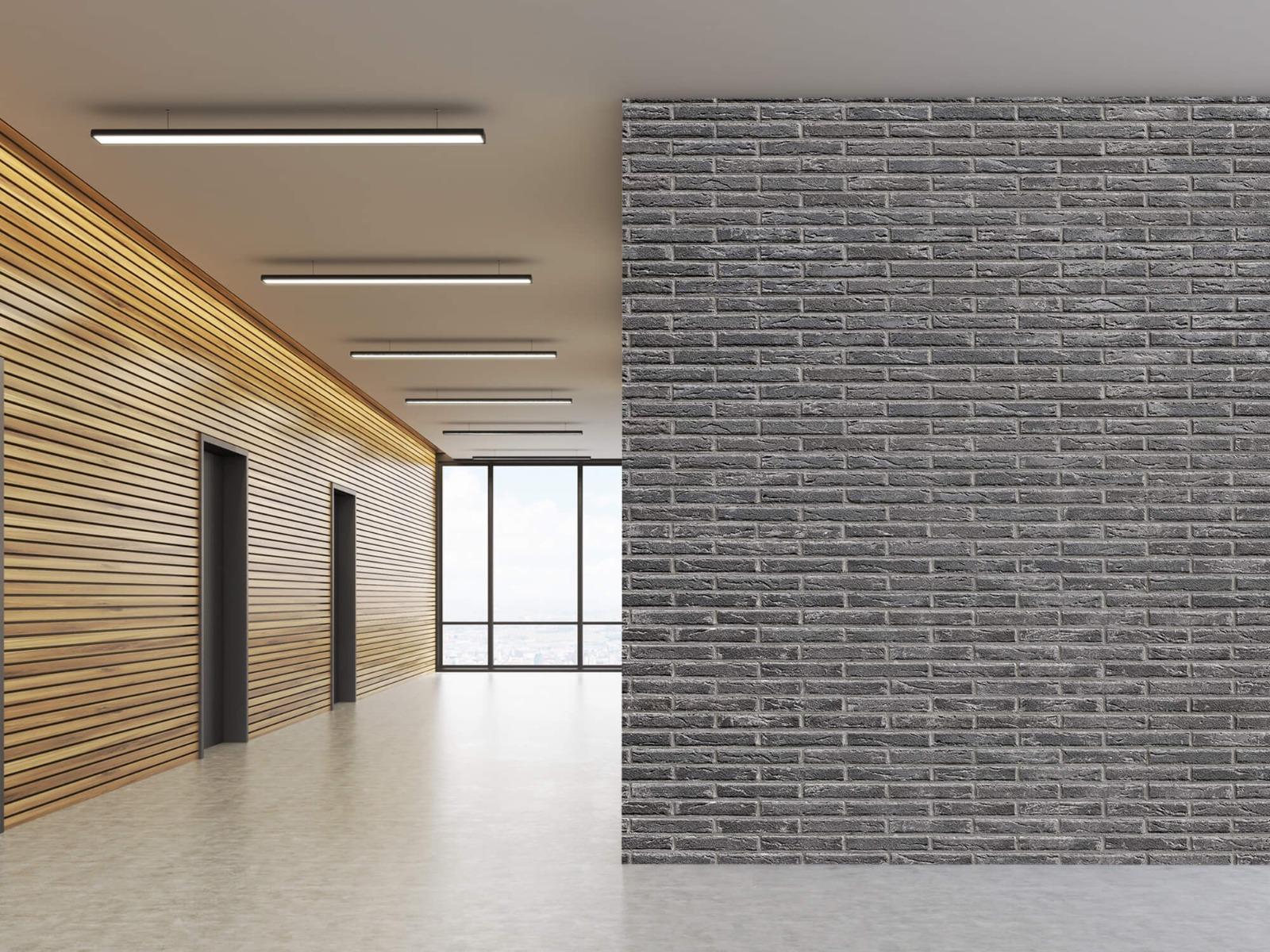 Steen behang - Grijze bakstenen - Wallexclusive - Slaapkamer 10