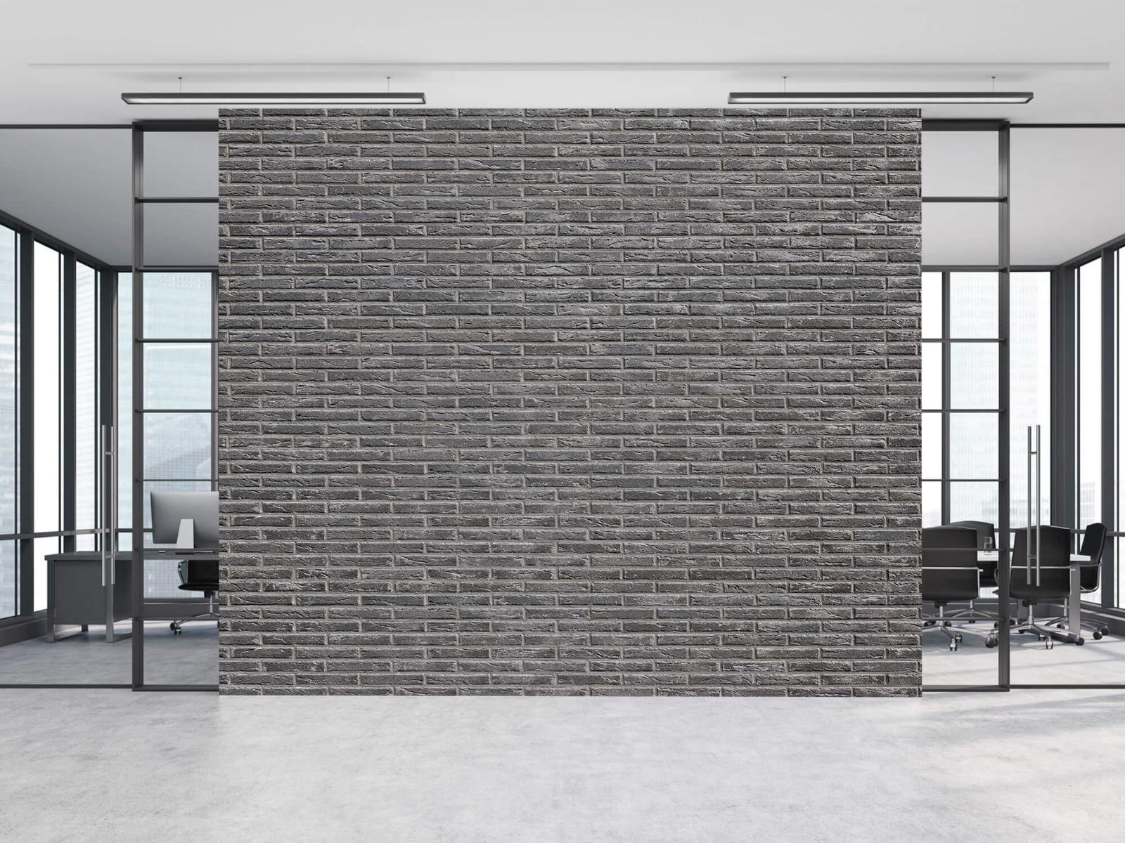 Steen behang - Grijze bakstenen - Wallexclusive - Slaapkamer 13