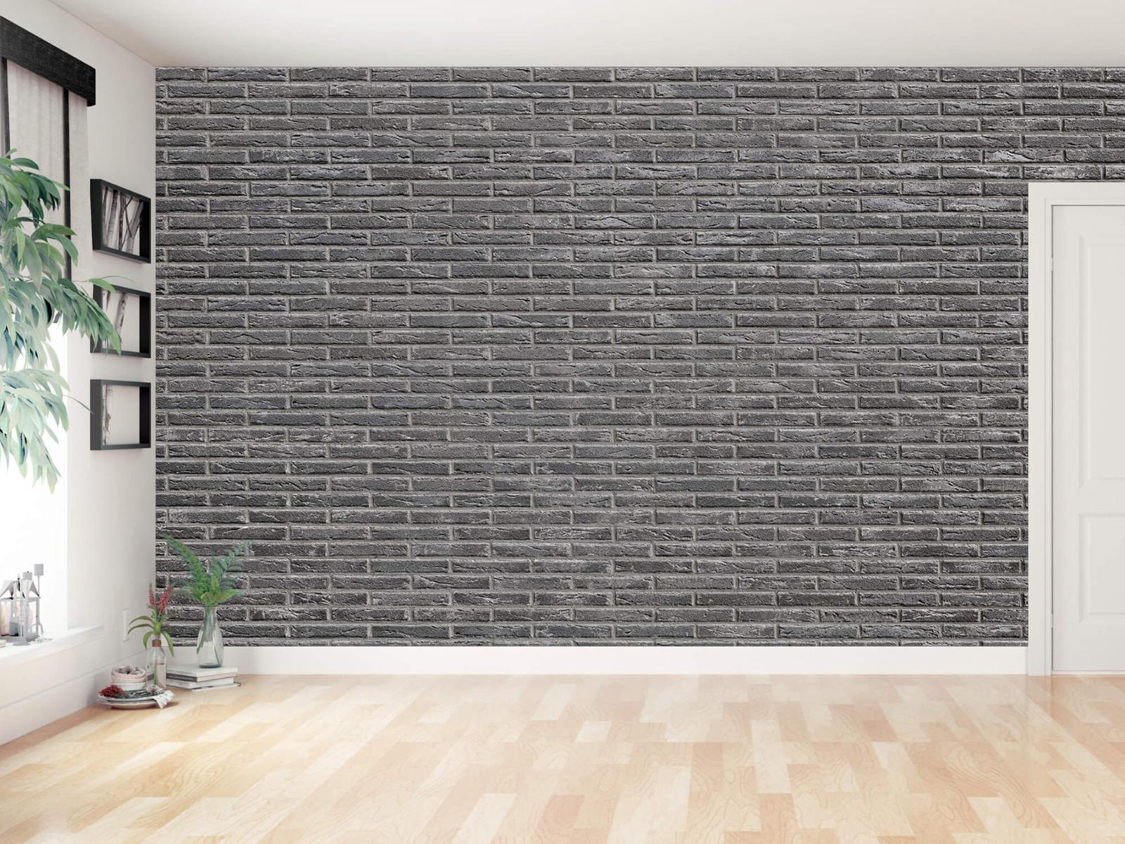 Steen behang - Grijze bakstenen - Wallexclusive - Slaapkamer 16