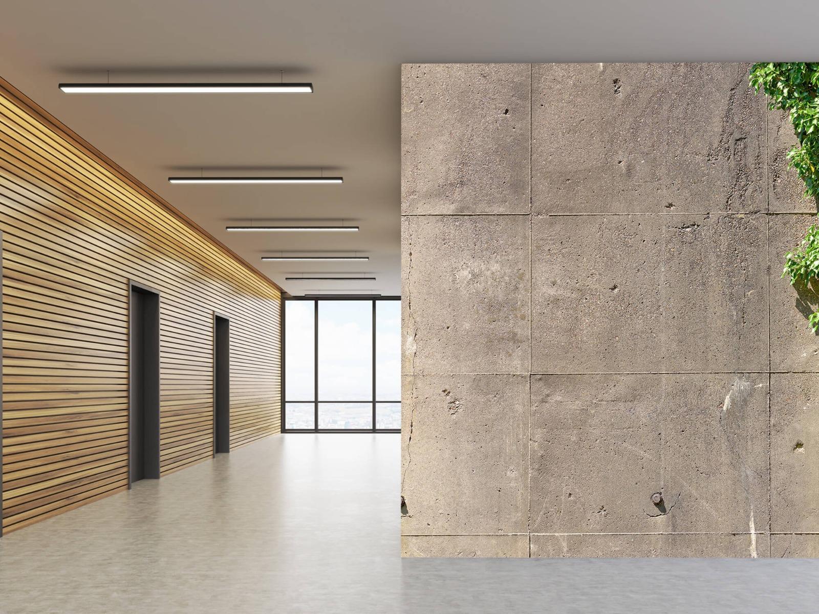 Betonlook behang - Beton met struik - Wallexclusive - Woonkamer 5