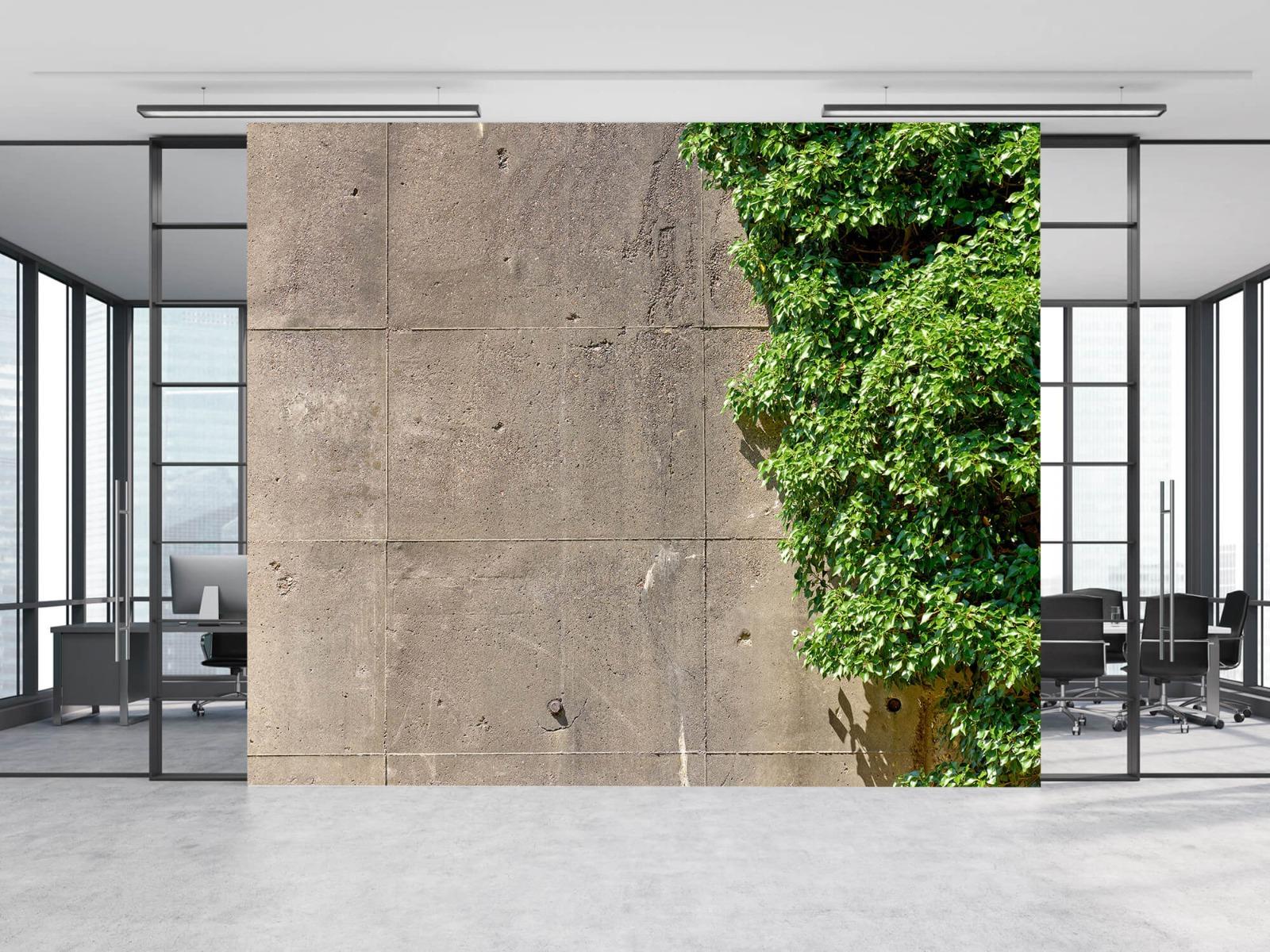 Betonlook behang - Beton met struik - Wallexclusive - Woonkamer 8