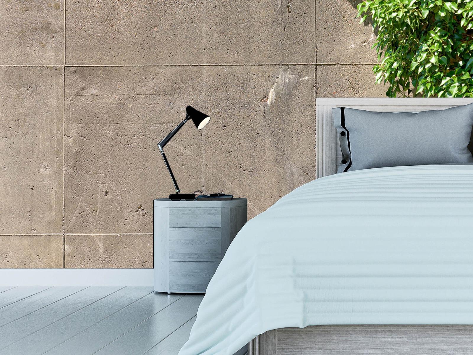 Betonlook behang - Beton met struik - Wallexclusive - Woonkamer 12