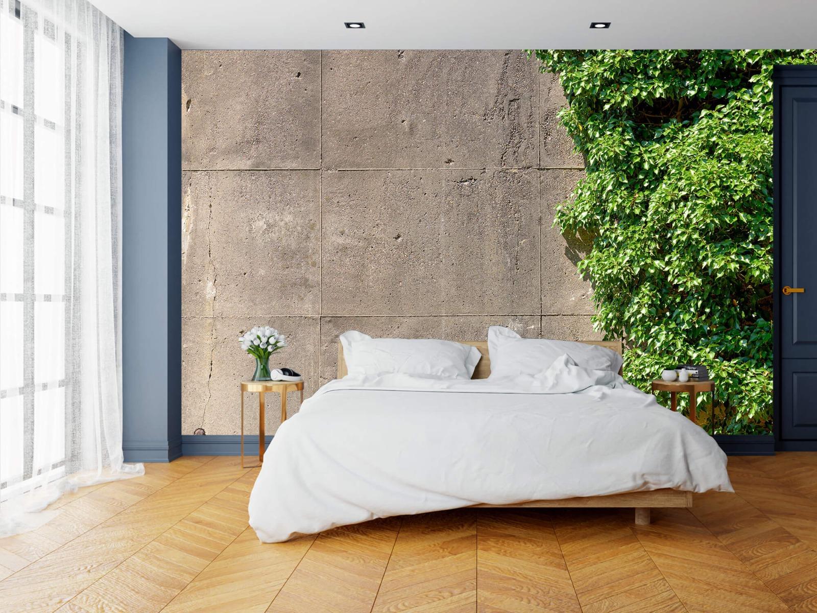 Betonlook behang - Beton met struik - Wallexclusive - Woonkamer 15
