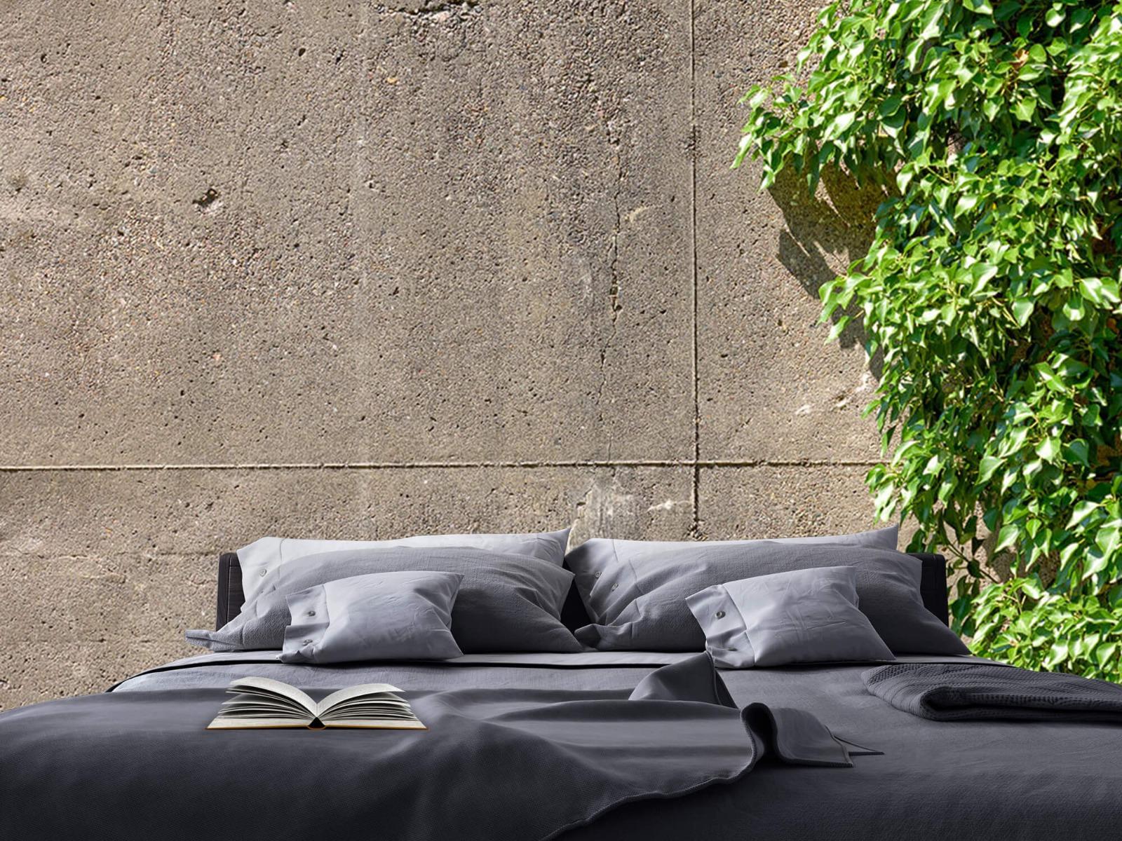 Betonlook behang - Beton met struik - Wallexclusive - Woonkamer 17