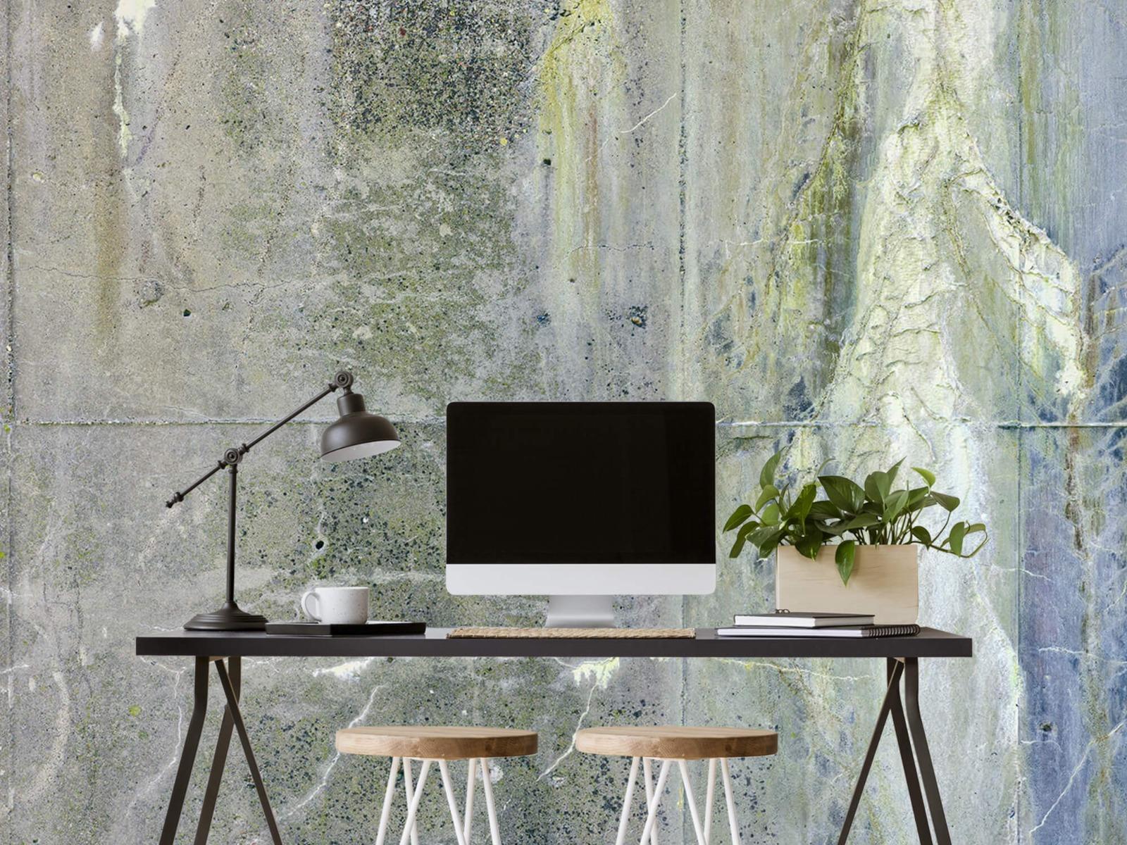 Betonlook behang - Verweerd beton - Wallexclusive - Tienerkamer 1