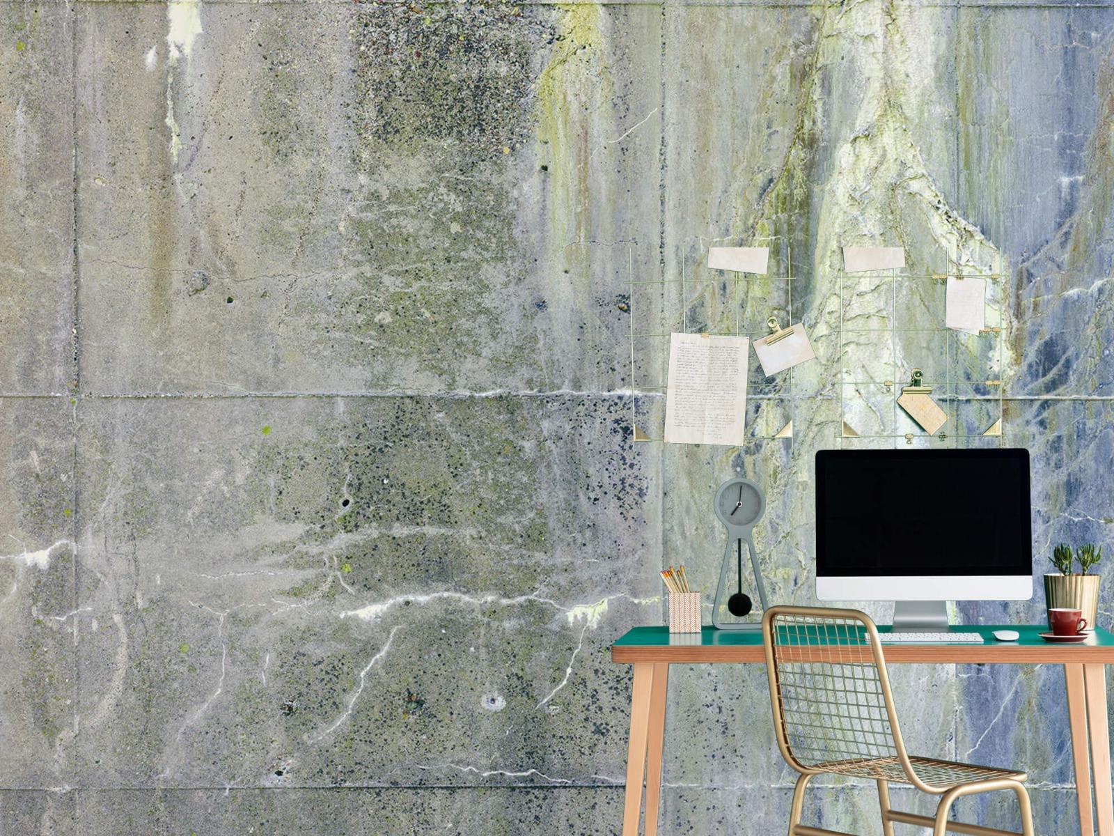 Betonlook behang - Verweerd beton - Wallexclusive - Tienerkamer 11