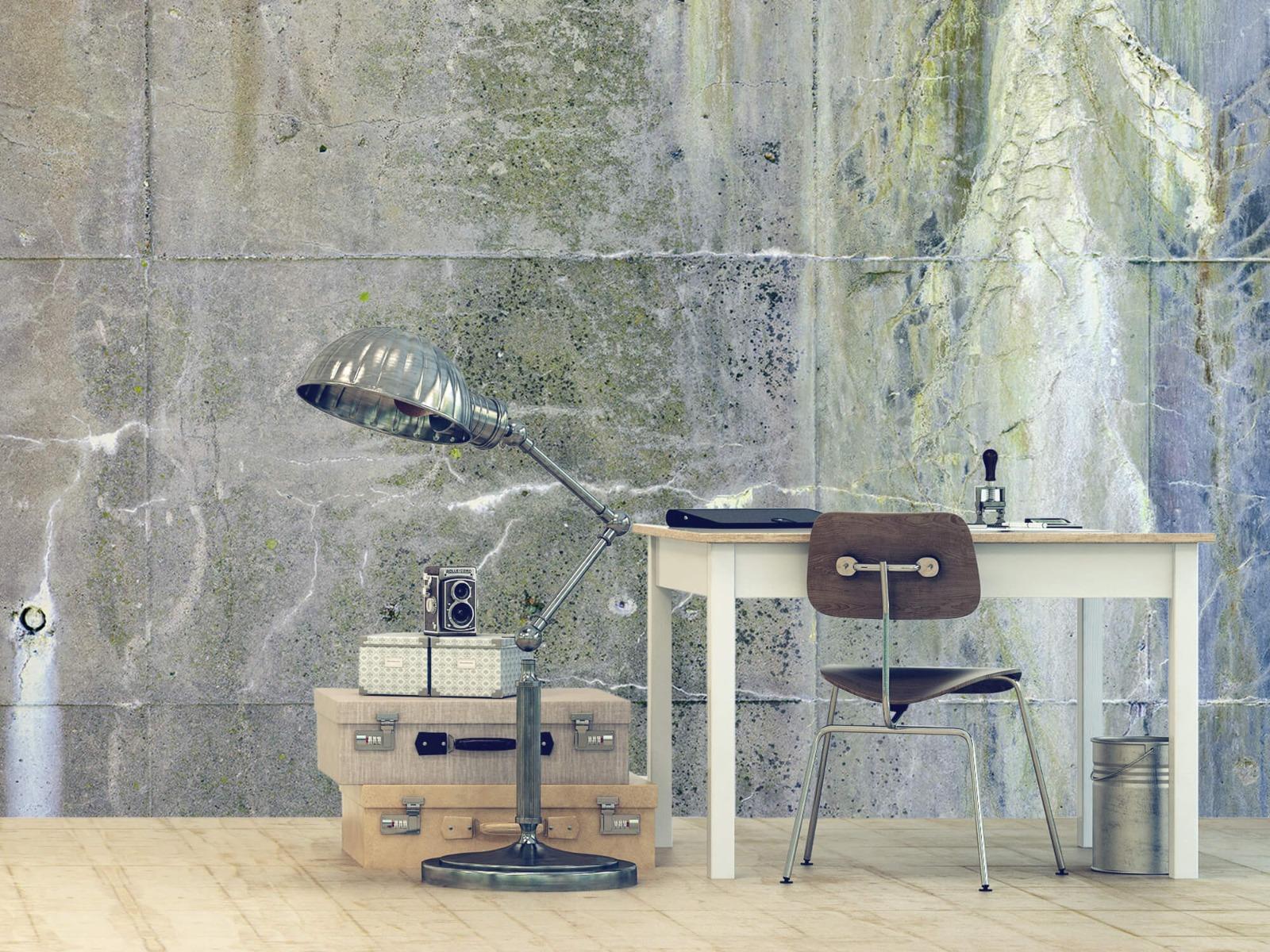 Betonlook behang - Verweerd beton - Wallexclusive - Tienerkamer 12