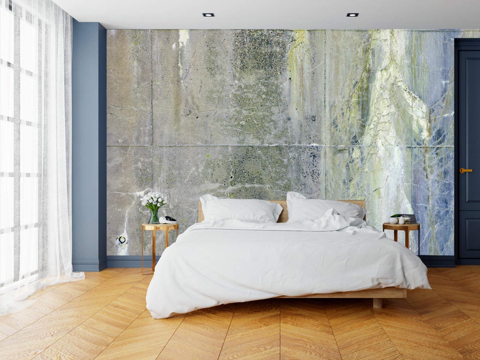 Betonlook behang - Verweerd beton - Wallexclusive - Tienerkamer 2
