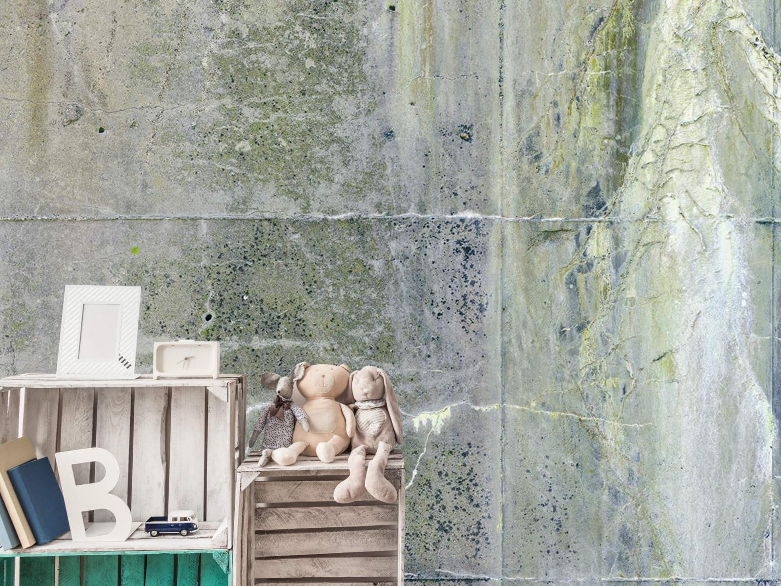 Betonlook behang - Verweerd beton - Wallexclusive - Tienerkamer 21