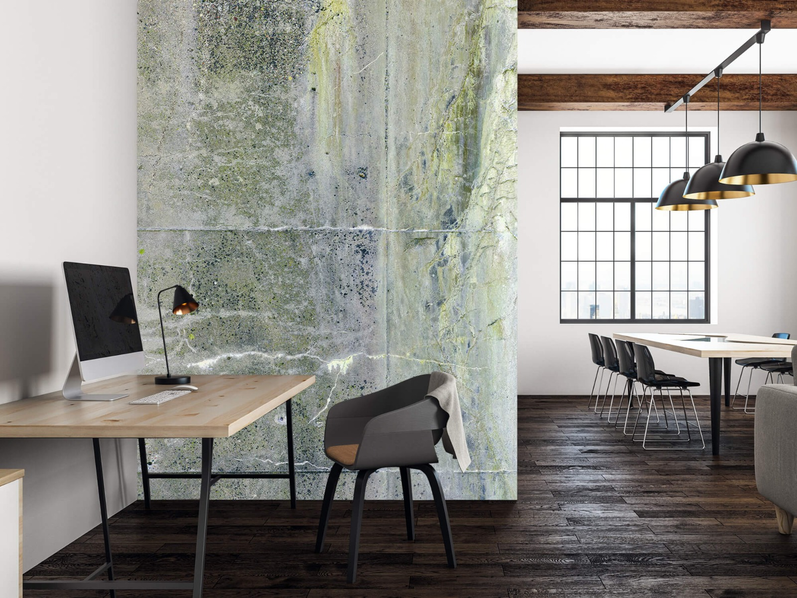 Betonlook behang - Verweerd beton - Wallexclusive - Tienerkamer 4