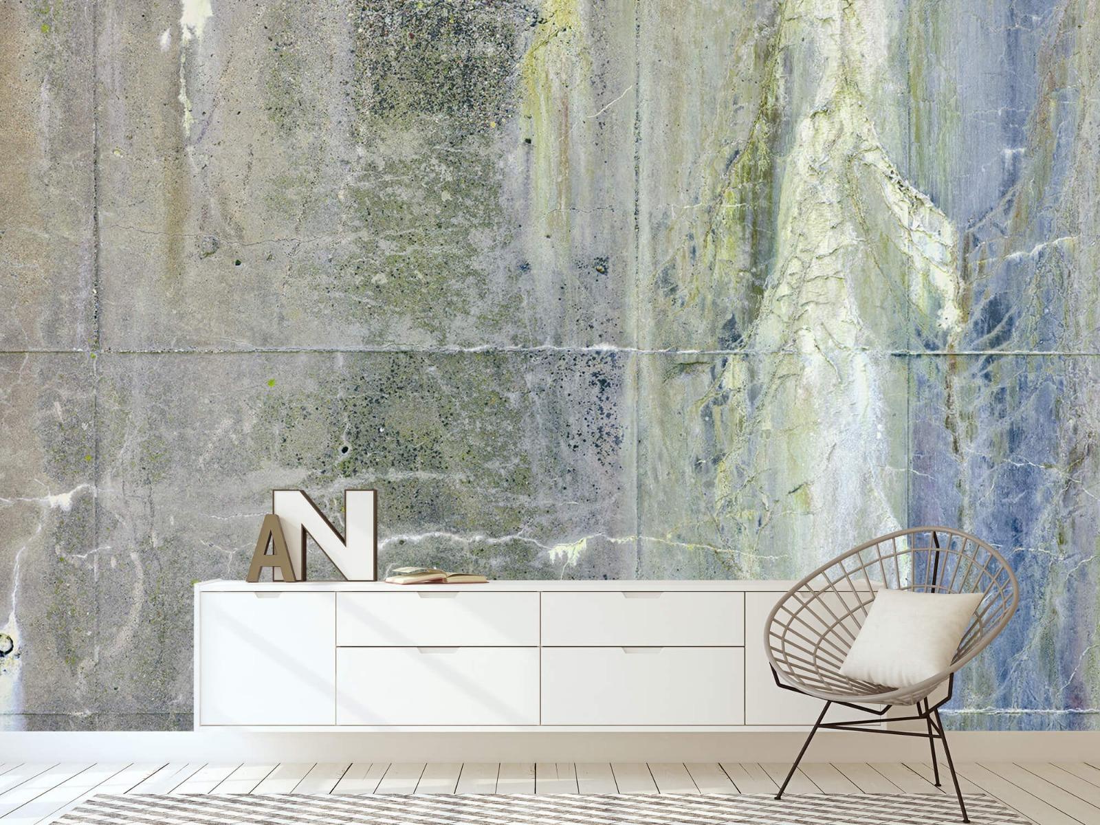 Betonlook behang - Verweerd beton - Wallexclusive - Tienerkamer 23