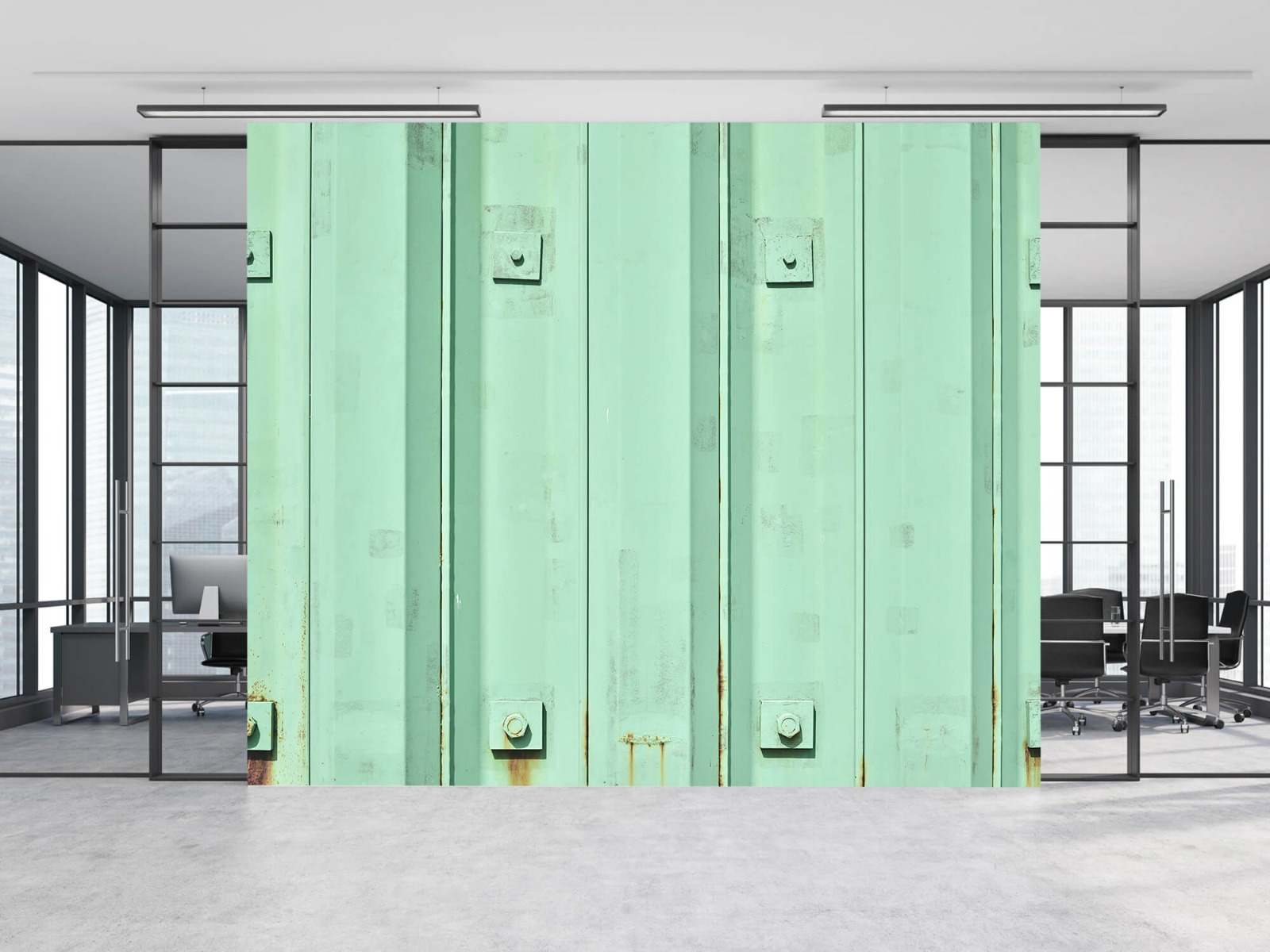Elementen - Groene damwand - Wallexclusive - Woonkamer 12