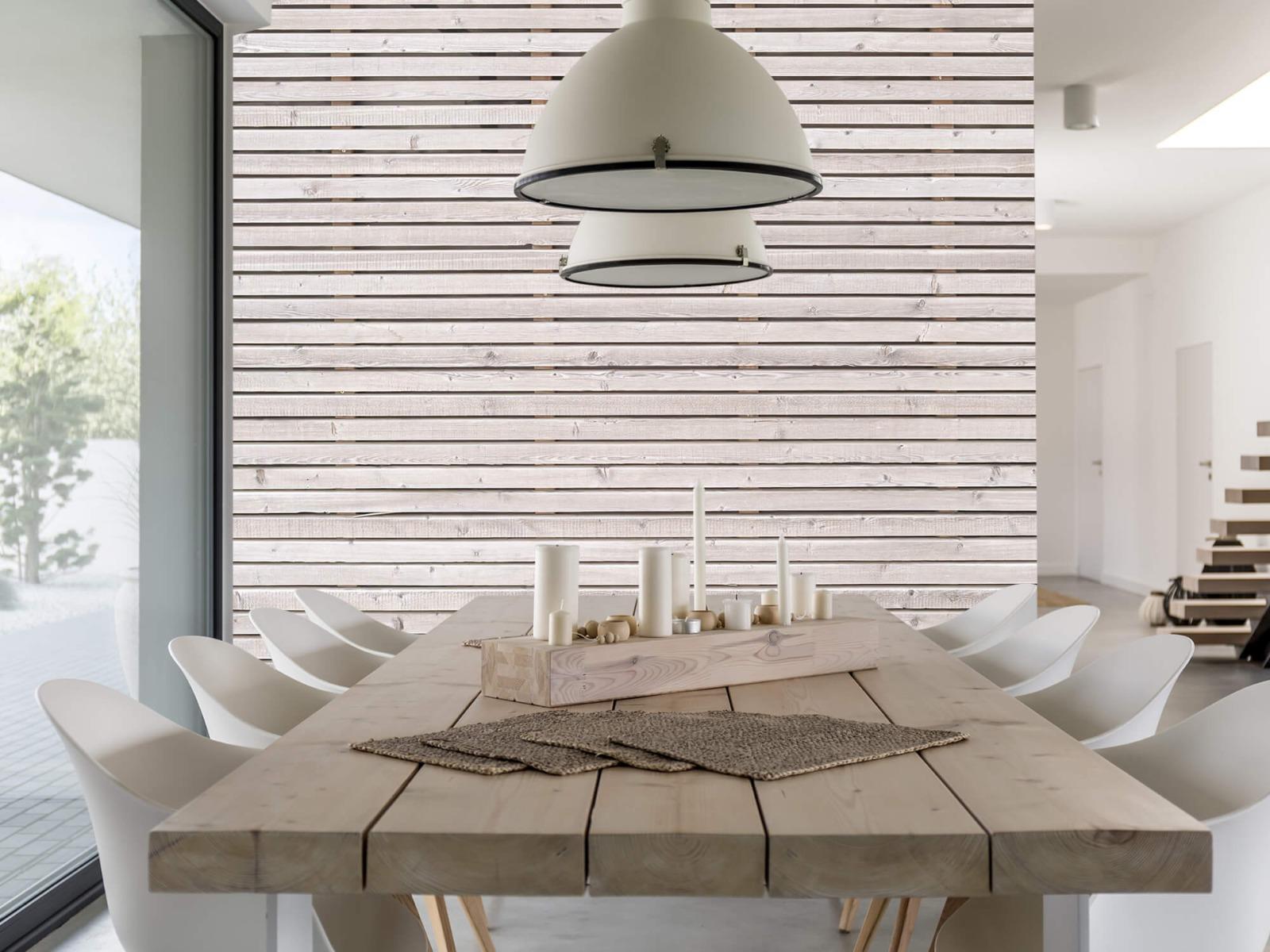 Hout behang - Horizontale planken - Wallexclusive - Woonkamer 3
