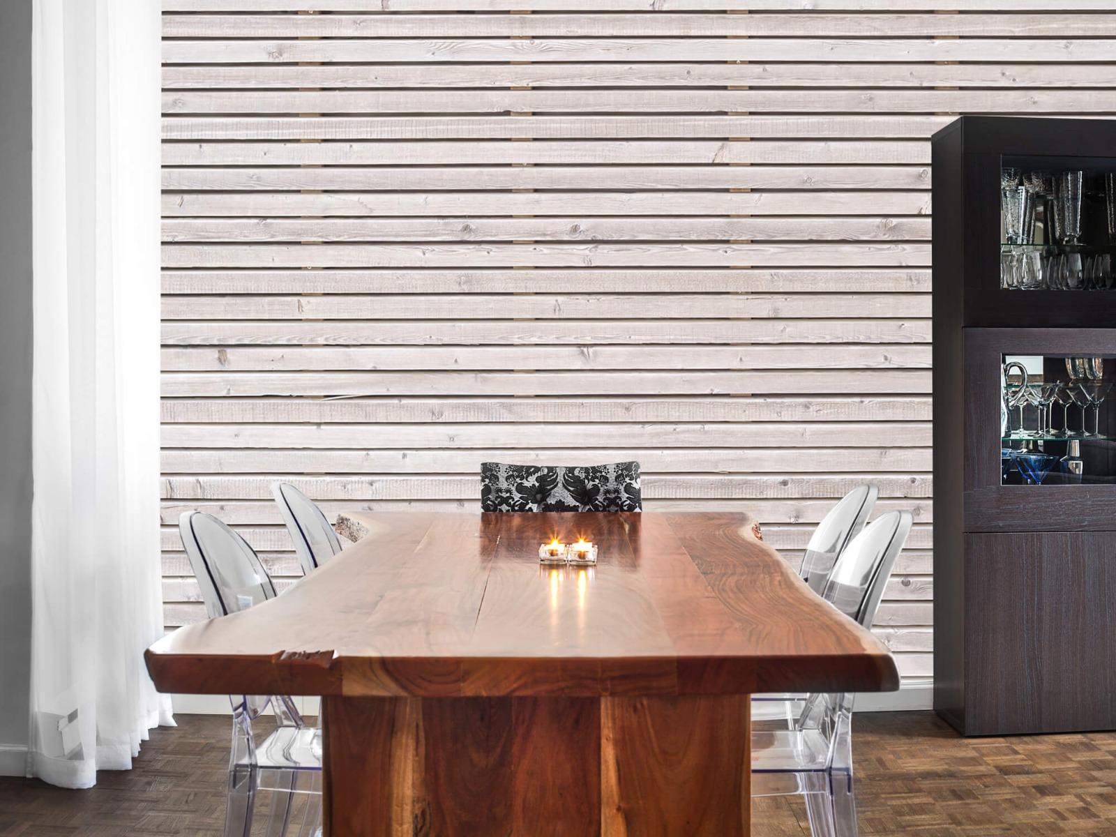 Hout behang - Horizontale planken - Wallexclusive - Woonkamer 4