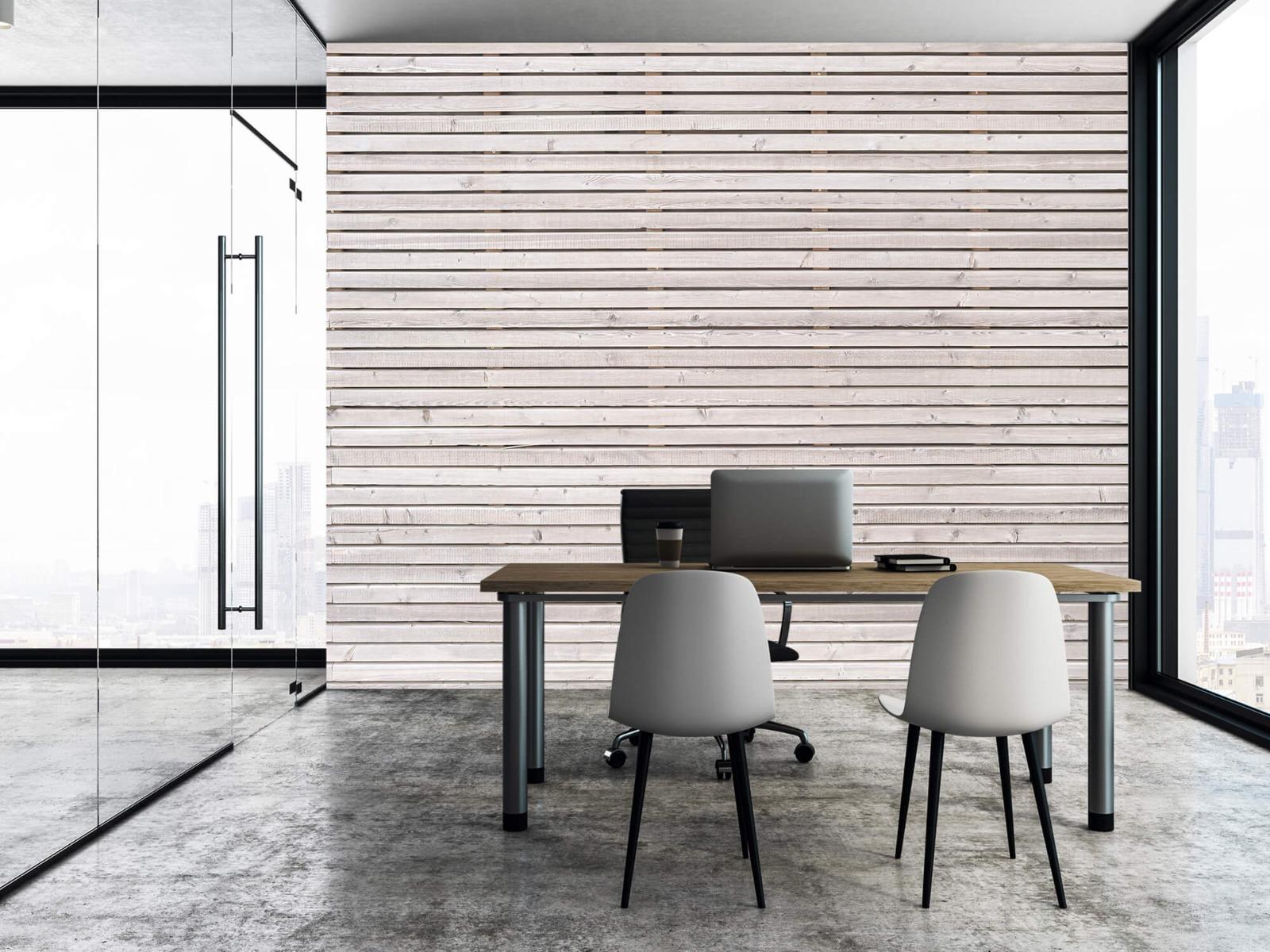 Hout behang - Horizontale planken - Wallexclusive - Woonkamer 5