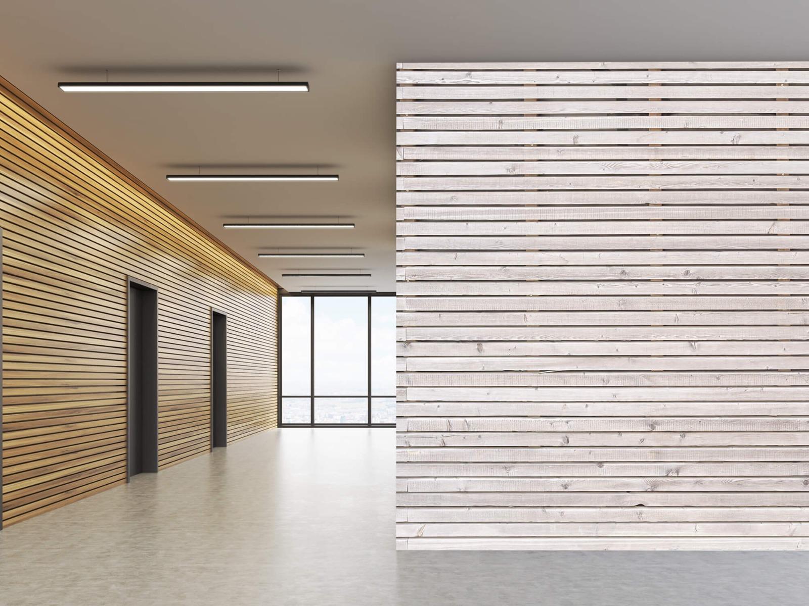 Hout behang - Horizontale planken - Wallexclusive - Woonkamer 7