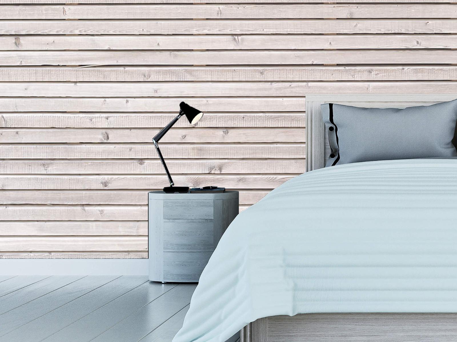 Hout behang - Horizontale planken - Wallexclusive - Woonkamer 14