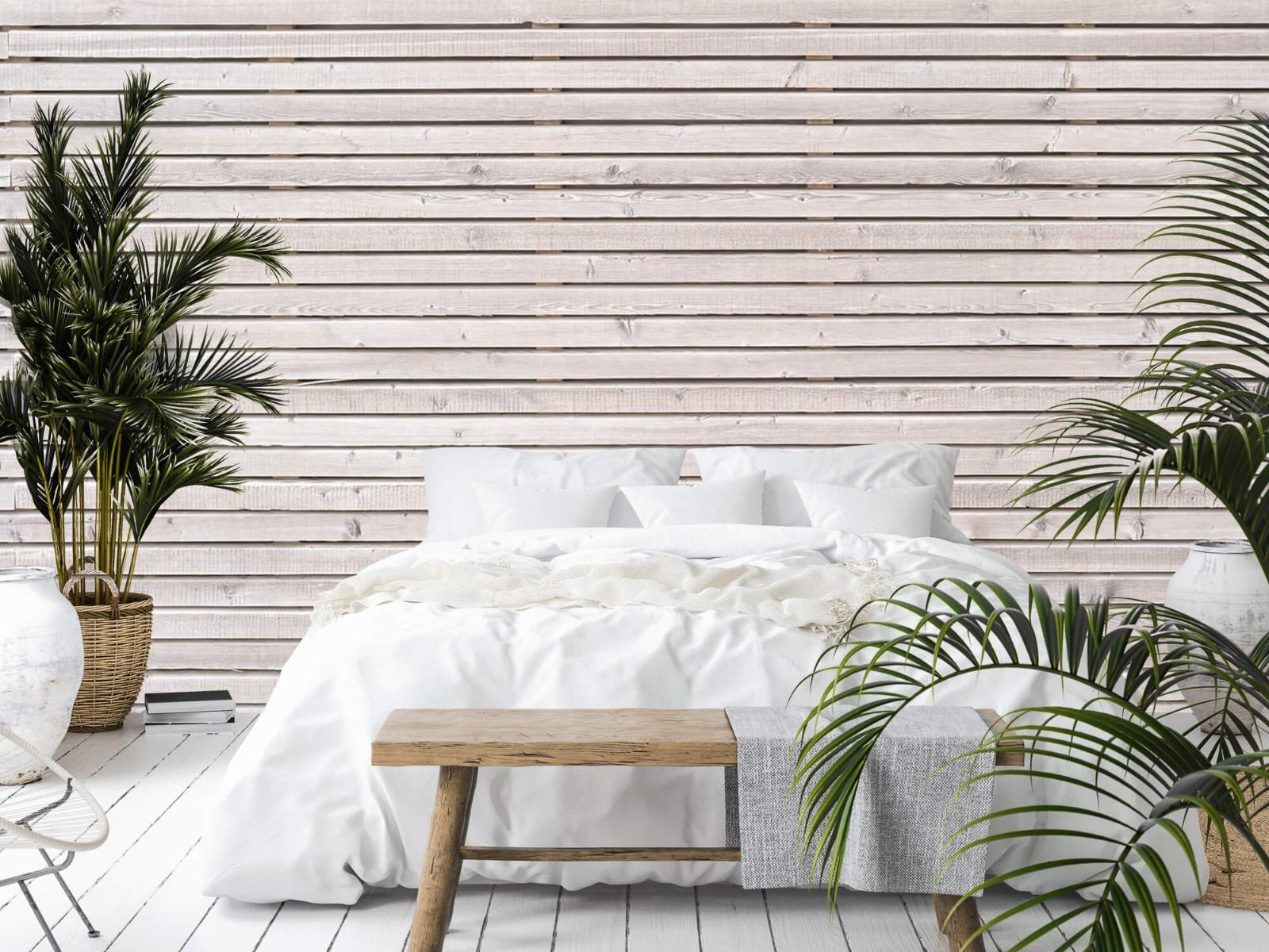 Hout behang - Horizontale planken - Wallexclusive - Woonkamer 15