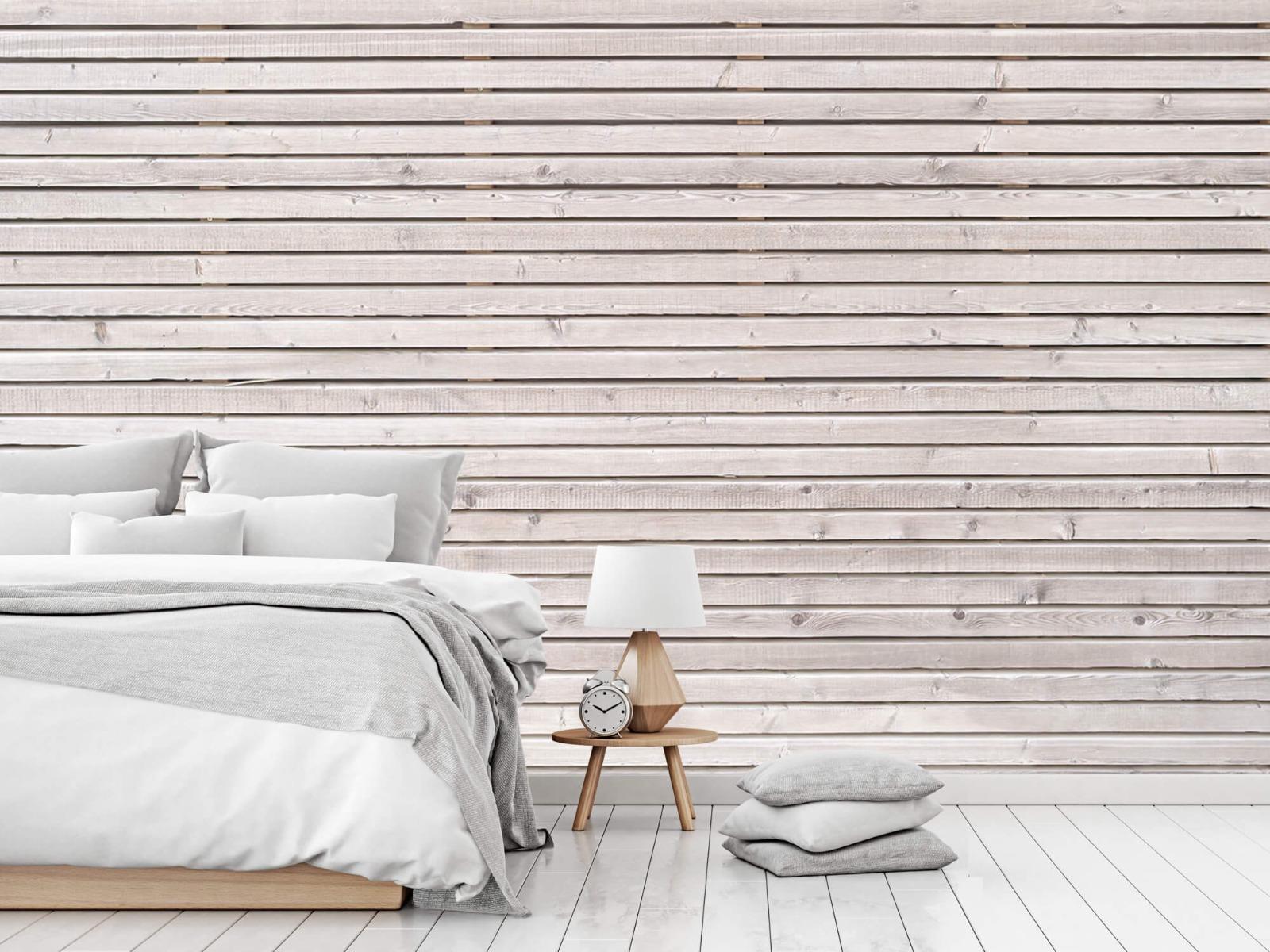 Hout behang - Horizontale planken - Wallexclusive - Woonkamer 2