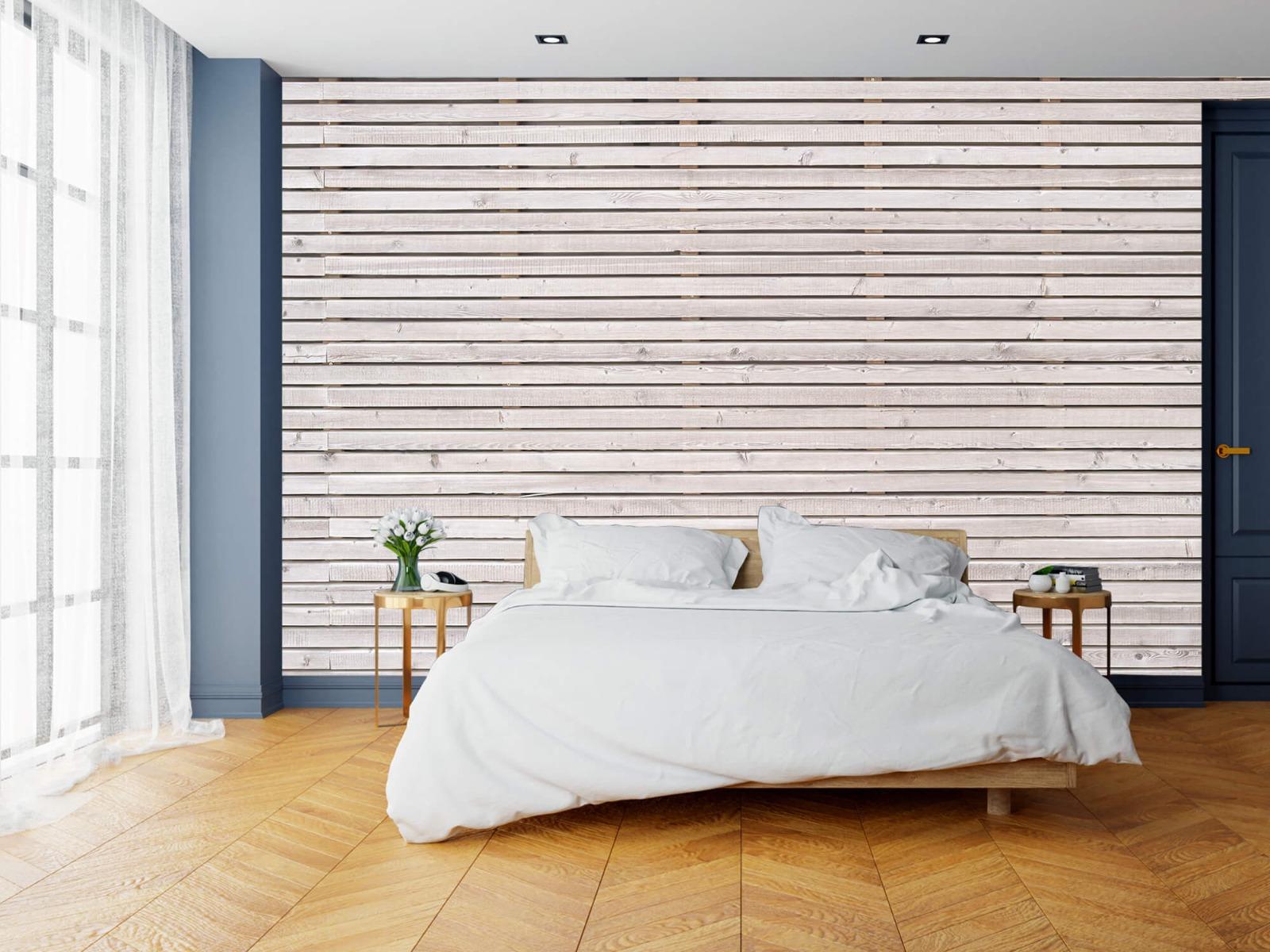 Hout behang - Horizontale planken - Wallexclusive - Woonkamer 16