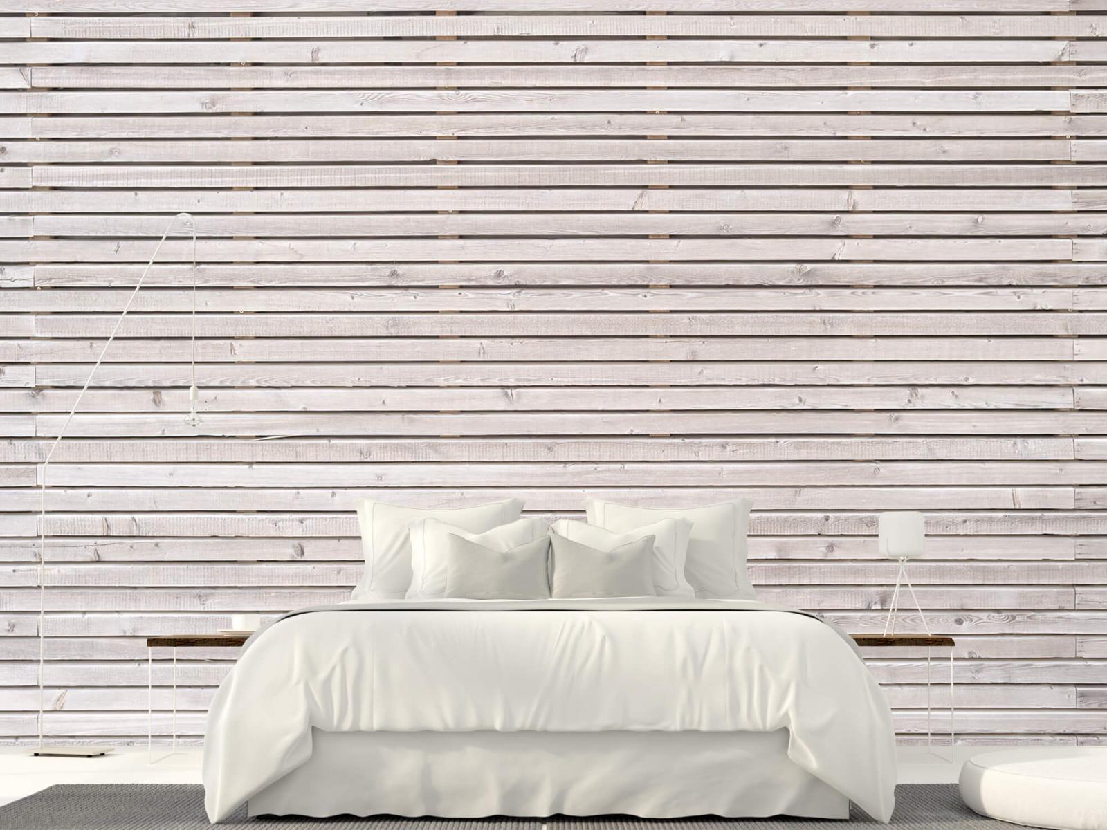Hout behang - Horizontale planken - Wallexclusive - Woonkamer 17