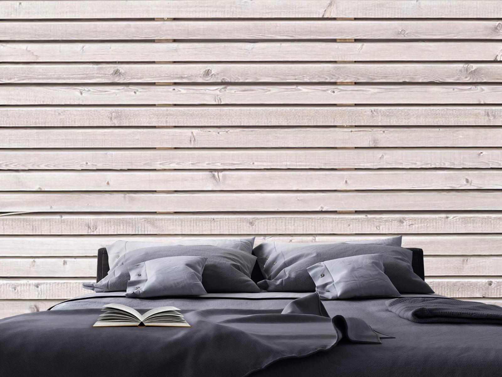 Hout behang - Horizontale planken - Wallexclusive - Woonkamer 18