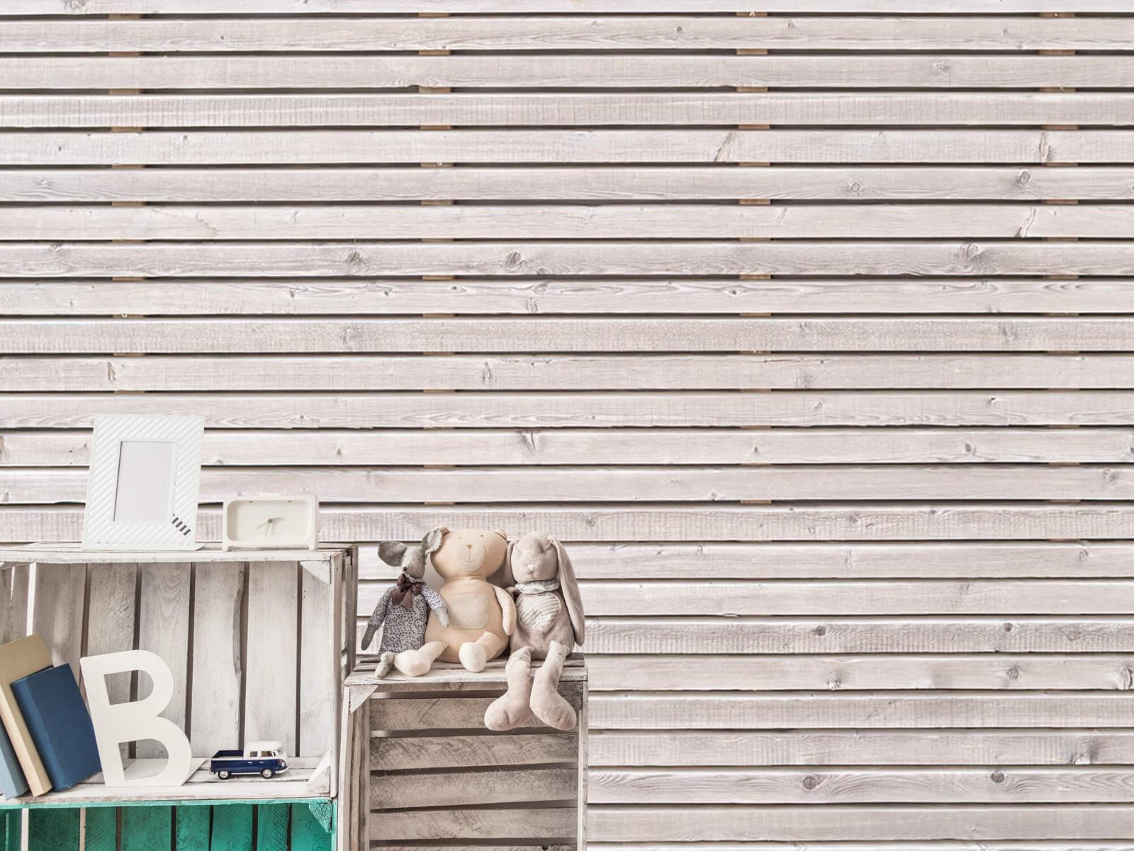 Hout behang - Horizontale planken - Wallexclusive - Woonkamer 20