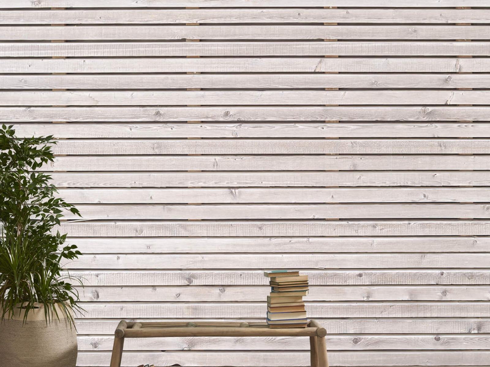 Hout behang - Horizontale planken - Wallexclusive - Woonkamer 21