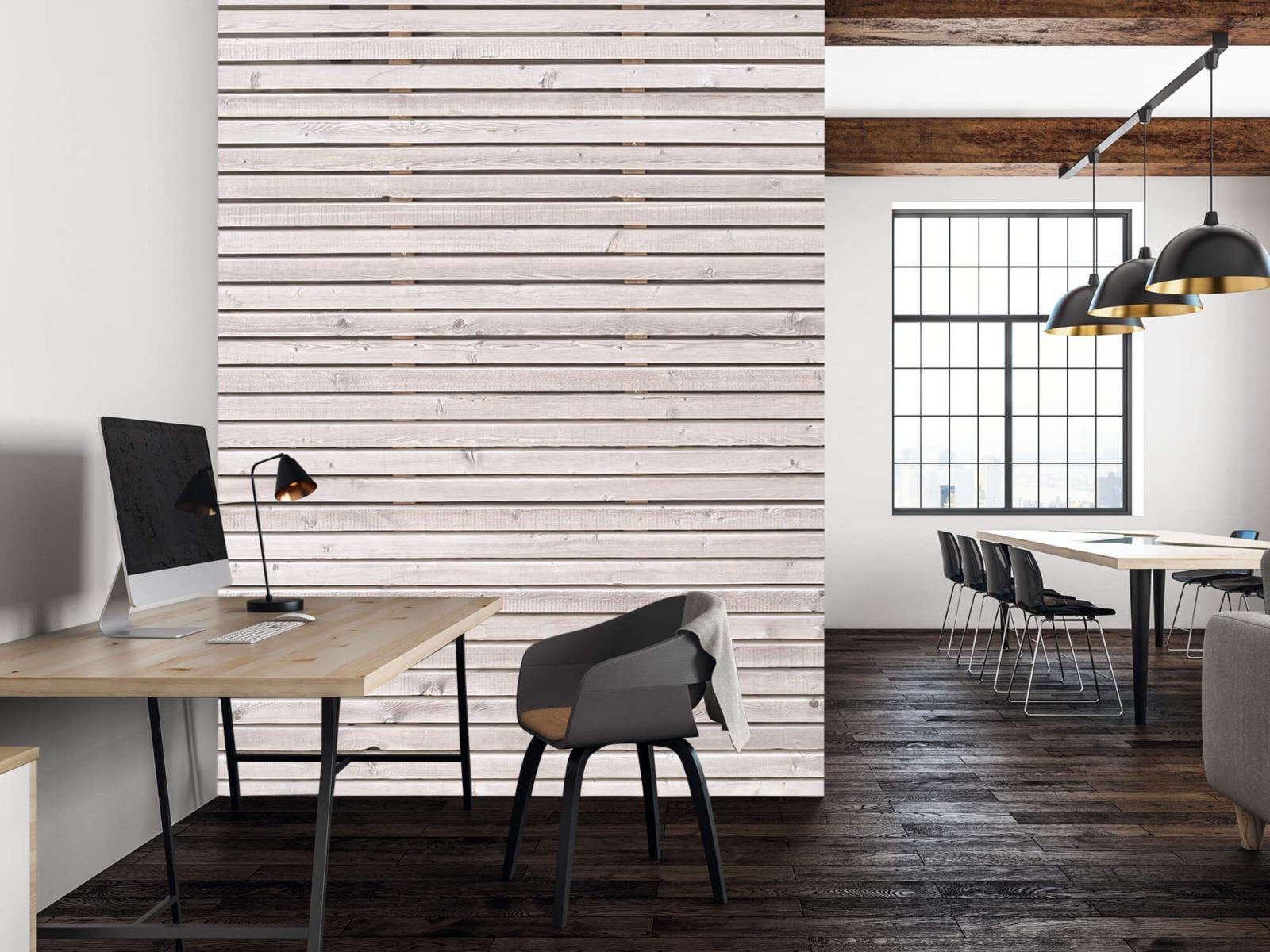Hout behang - Horizontale planken - Wallexclusive - Woonkamer 23