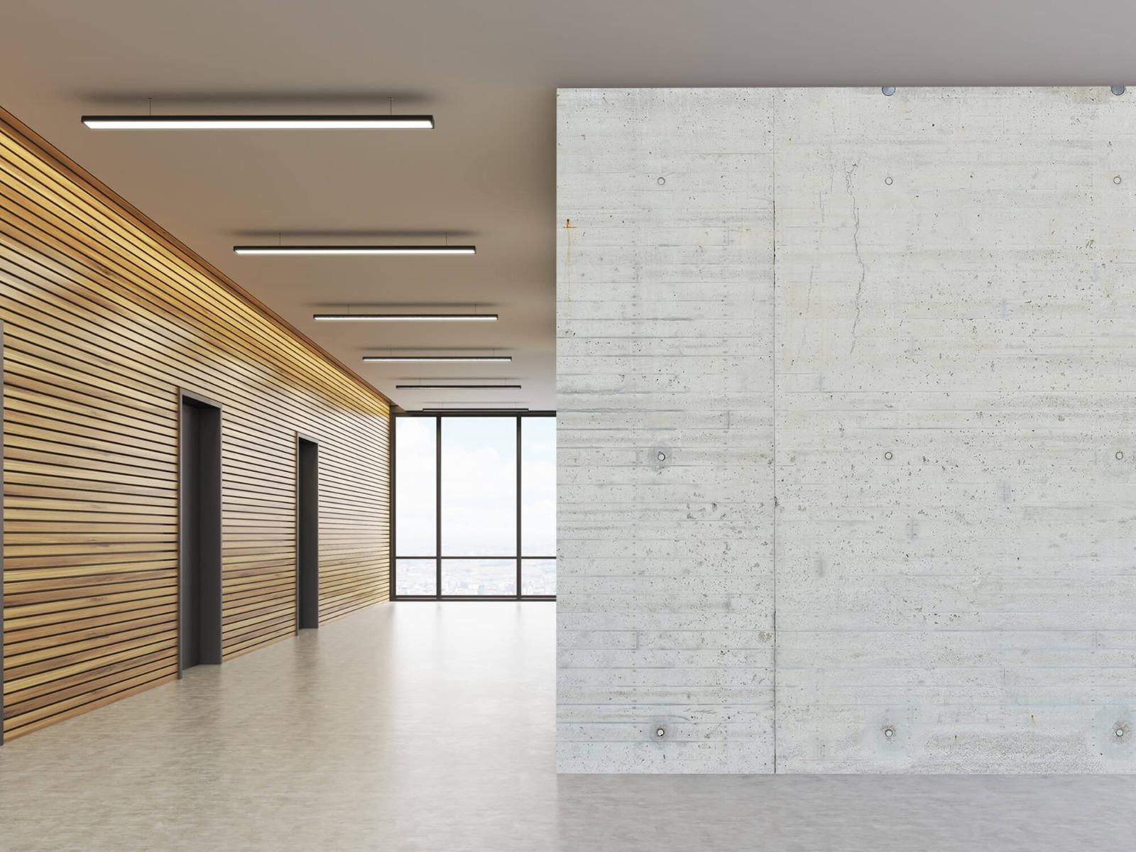 Betonlook behang - Beton stroken - Wallexclusive - Magazijn 5
